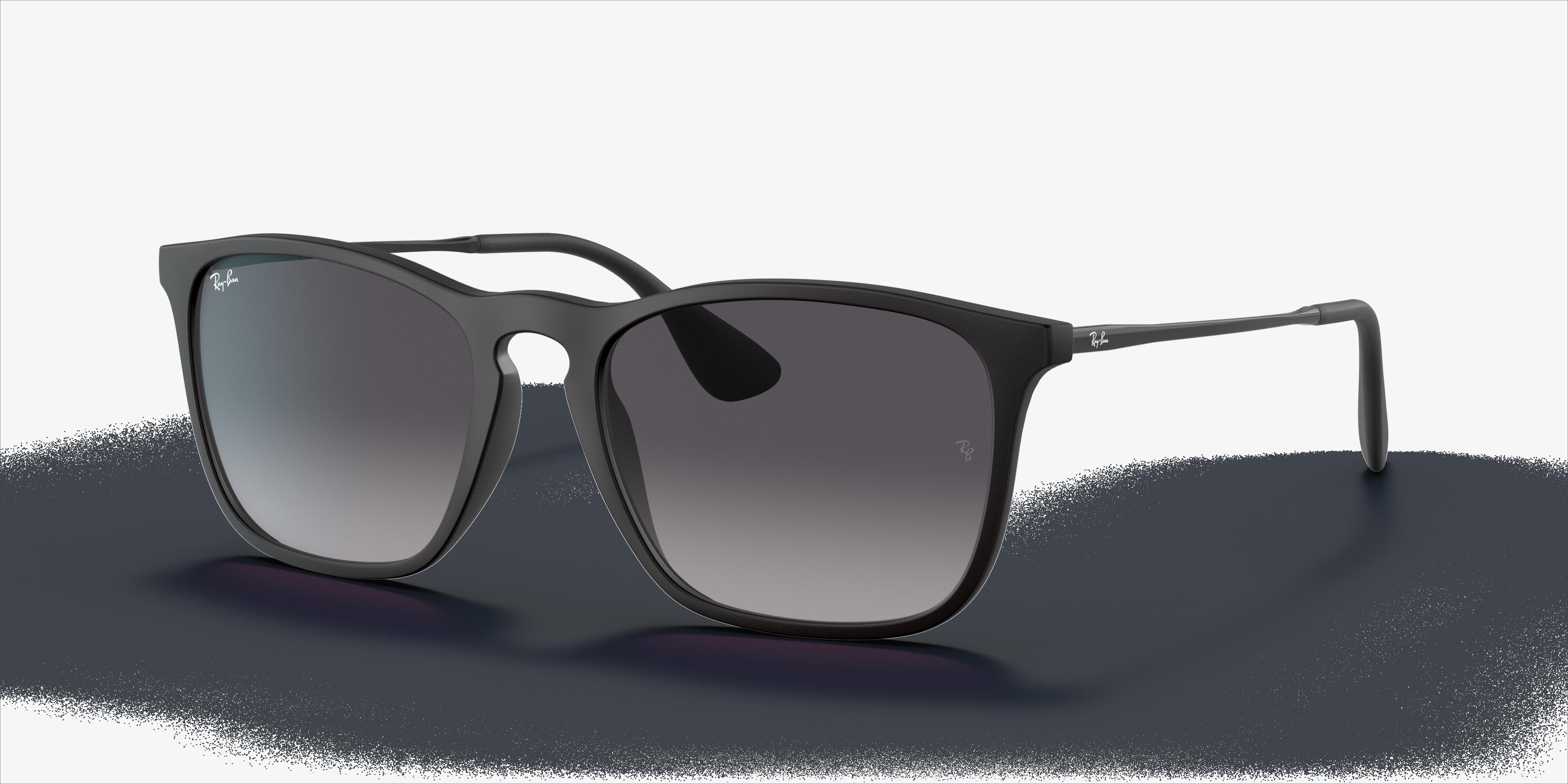 Ray-Ban Chris Low Bridge Fit Black, Gray Lenses - RB4187F