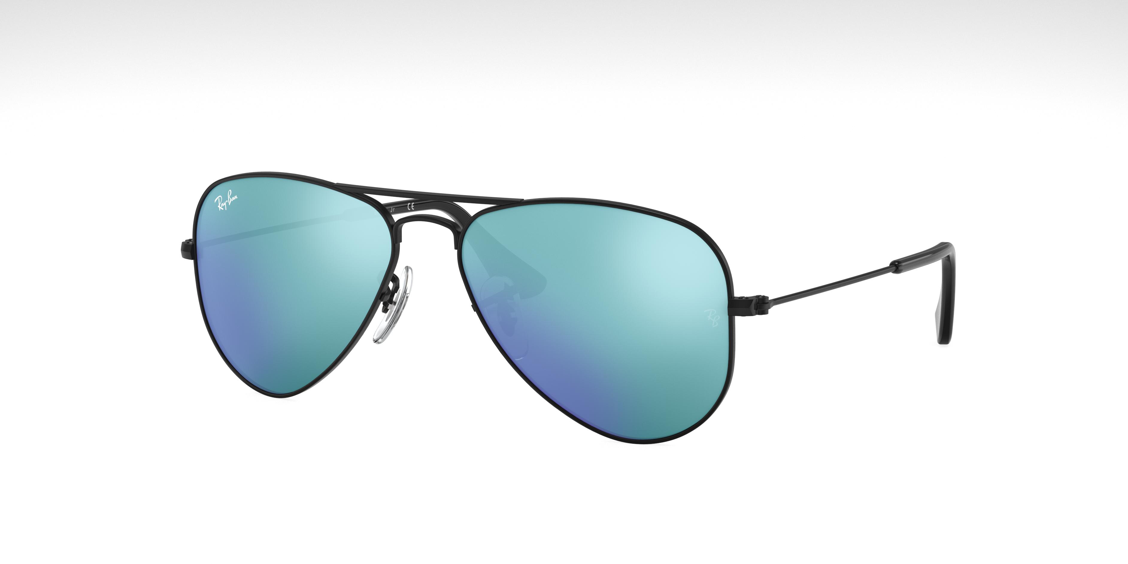 Ray-Ban Aviator Junior Black, Blue Lenses - RJ9506S