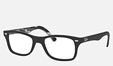 Ray-Ban RX5228F 5405 53-17 RX5228F(JPフィット) トップマットブラックオンテクスチャ 新作メガネ