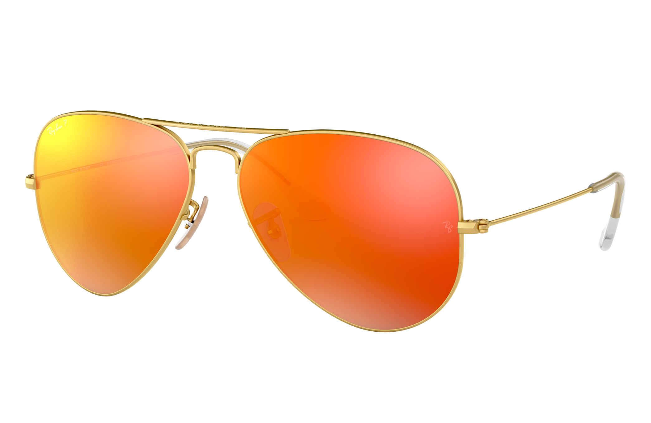Ray-Ban Aviator Flash Lenses Gold, Polarized Orange Lenses - RB3025