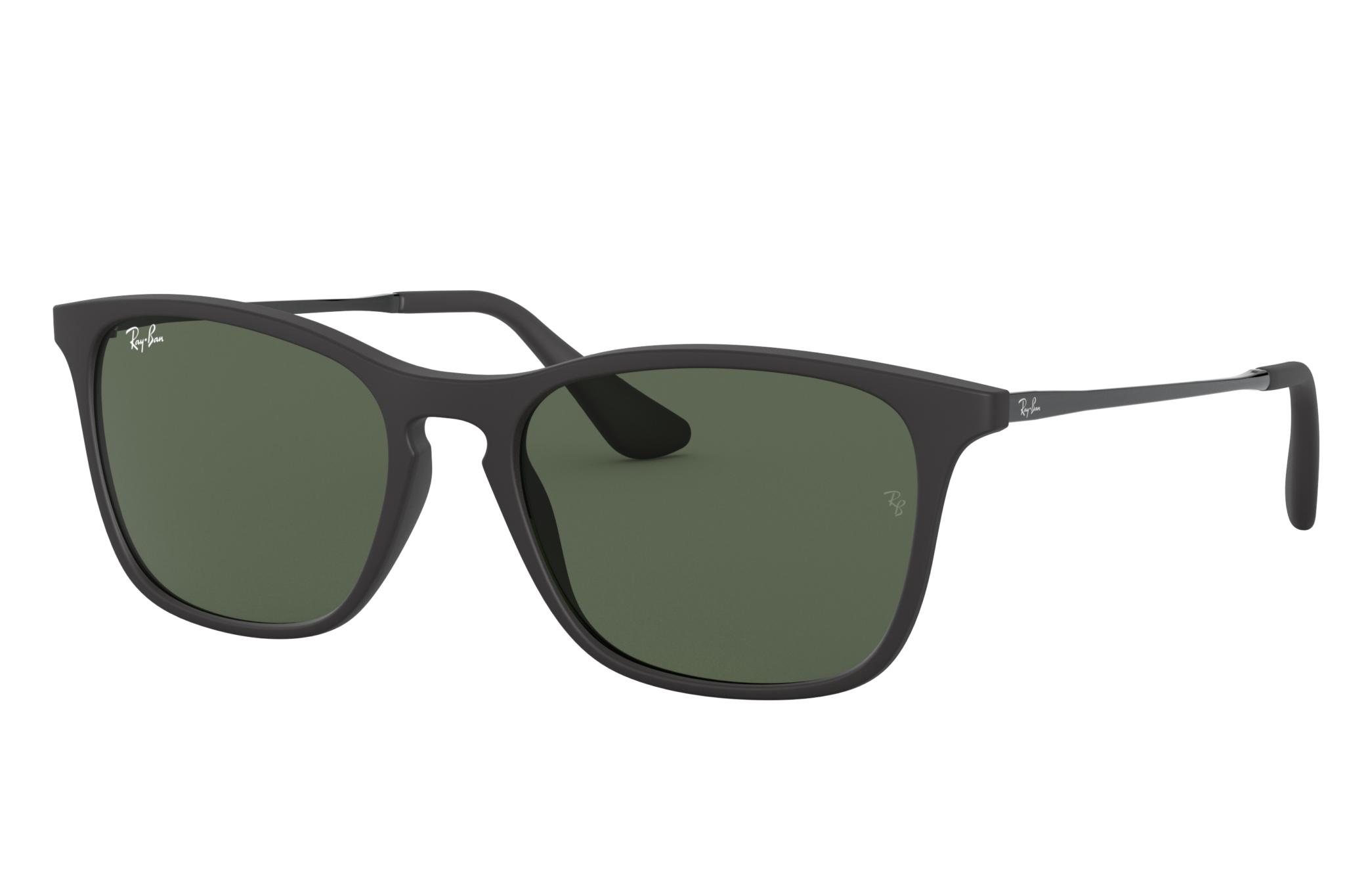 Ray-Ban Chris Junior Black, Green Lenses - RJ9061S