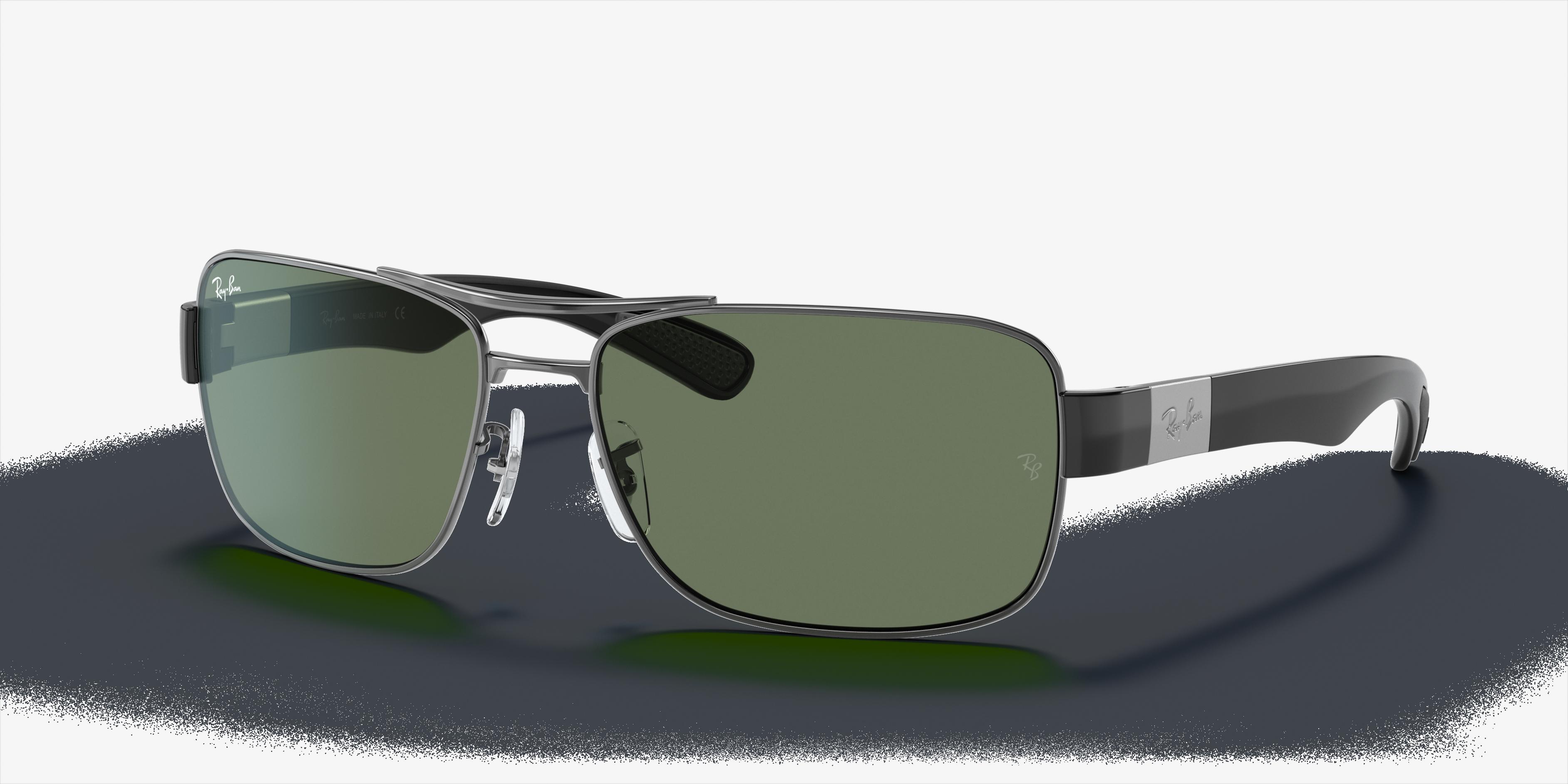 Ray-Ban Rb3522 Gunmetal, Green Lenses - RB3522