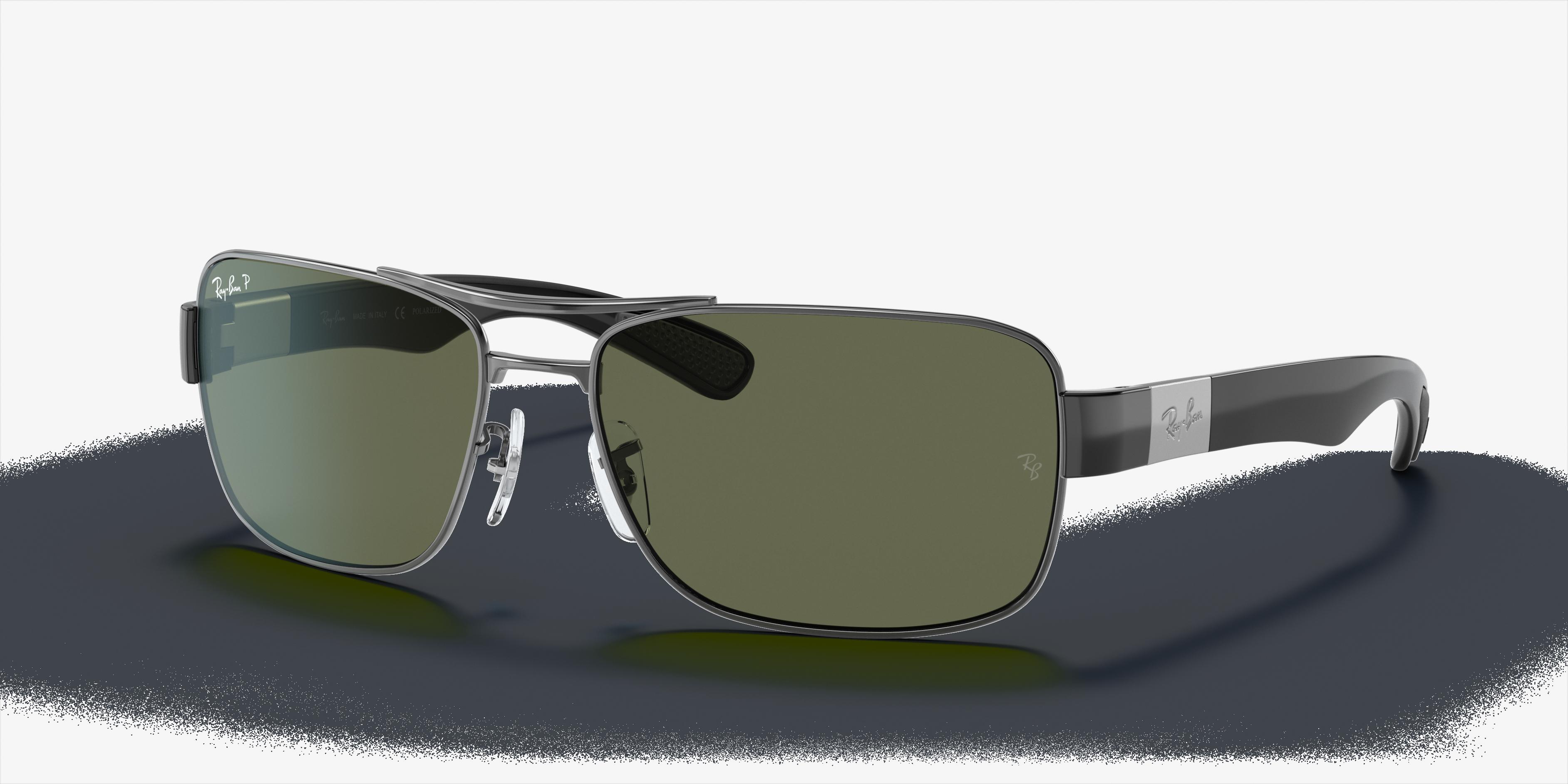 Ray-Ban Rb3522 Gunmetal, Polarized Green Lenses - RB3522
