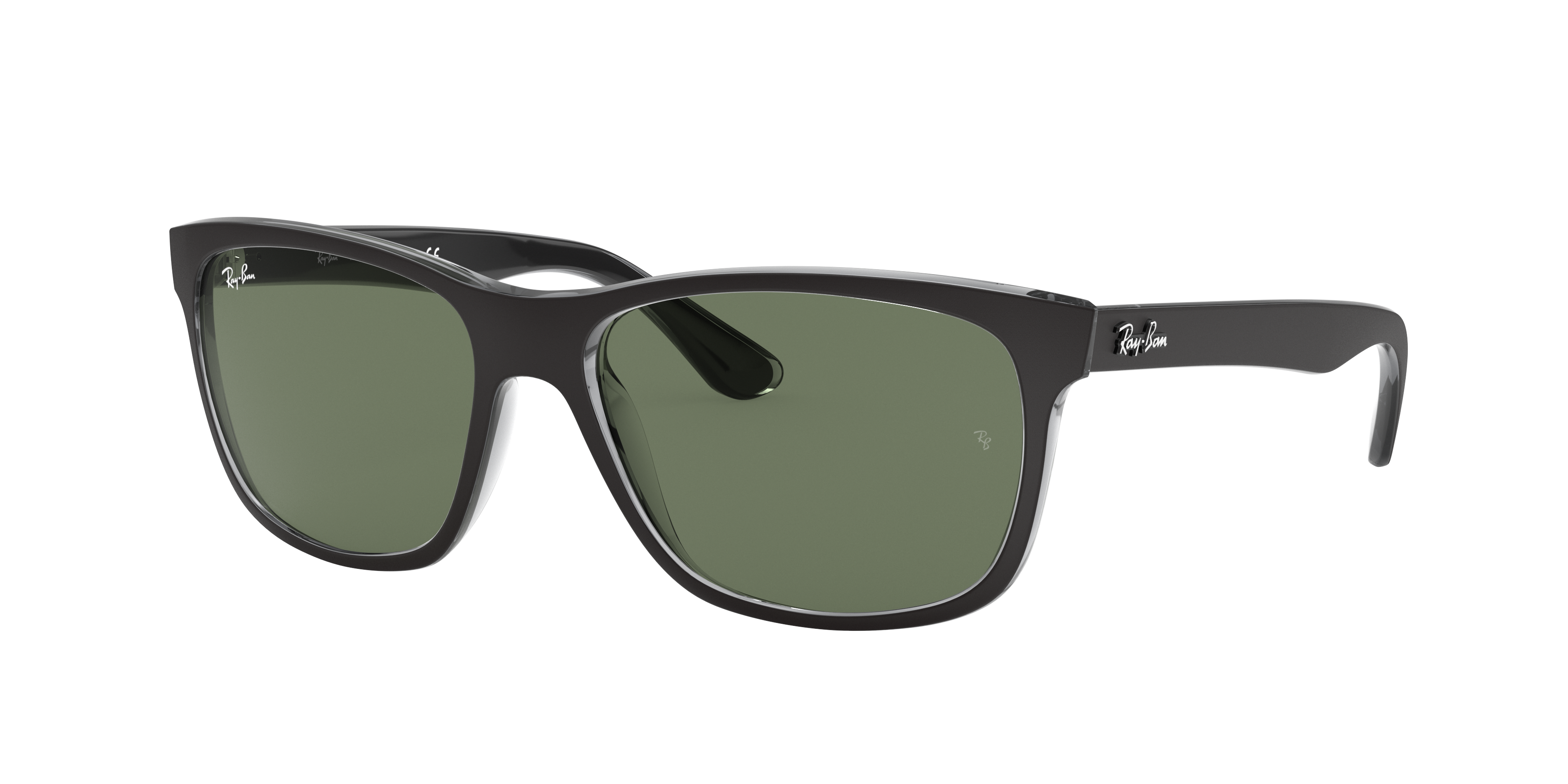 Ray-Ban Rb4181 Black, Green Lenses - RB4181