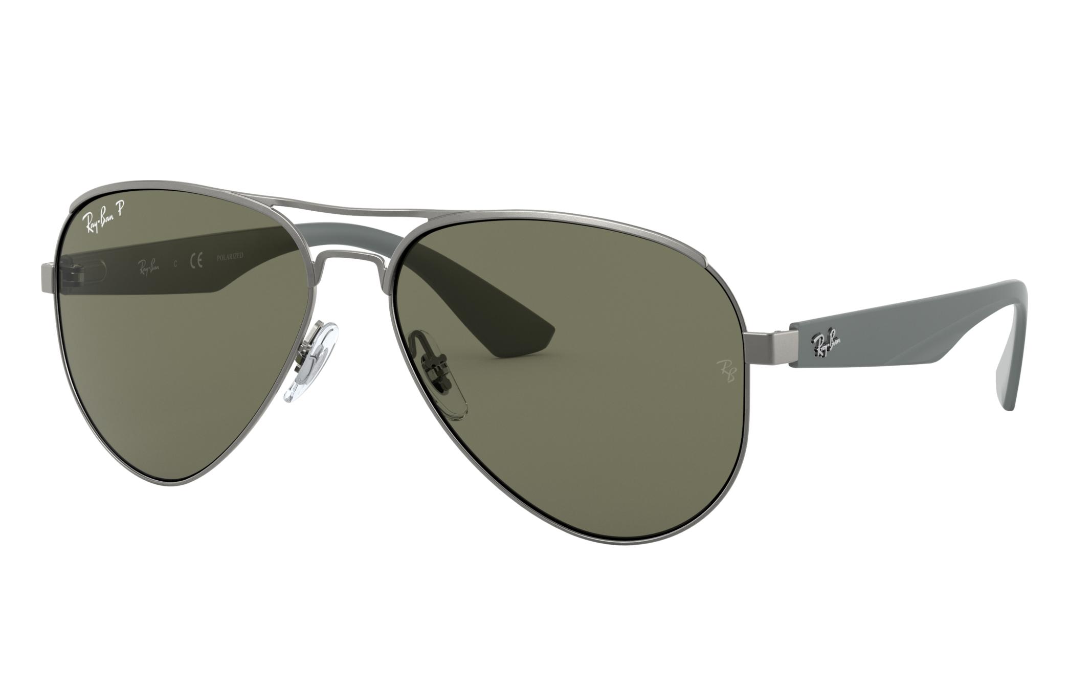 Ray-Ban Rb3523 Grey, Polarized Green Lenses - RB3523