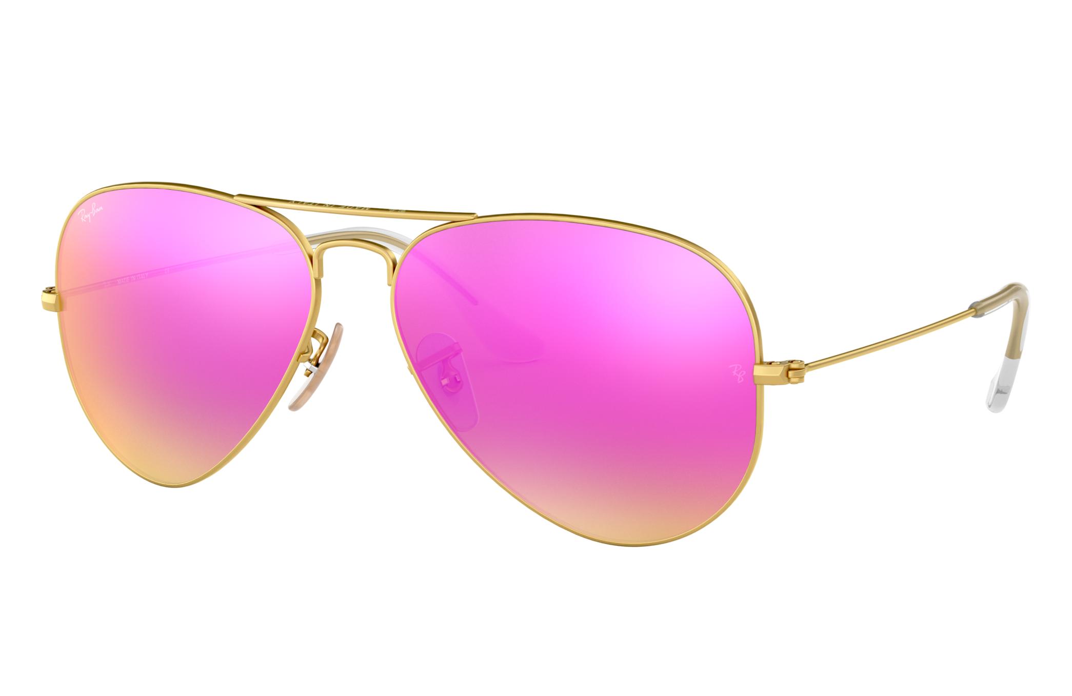 Ray-Ban Aviator Flash Lenses Gold, Violet Lenses - RB3025