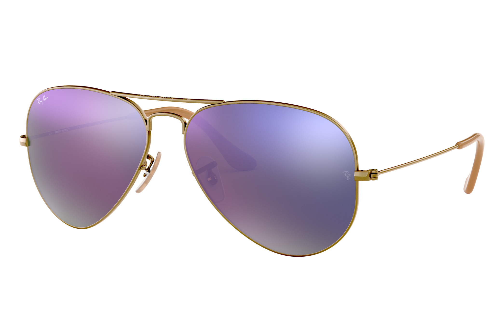 Ray-Ban Aviator Flash Lenses Bronze-Copper, Violet Lenses - RB3025