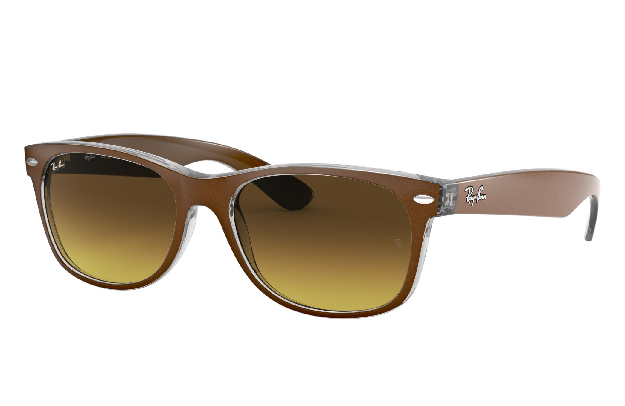 Ray-Ban New Wayfarer Color Mix Brown, Brown Lenses - RB2132