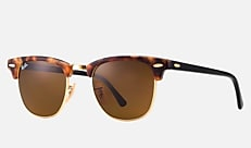 Ray-Ban RB3016 1160 51-21 CLUBMASTER FLECK スポッテッドブラウンハバナ Clubmaster