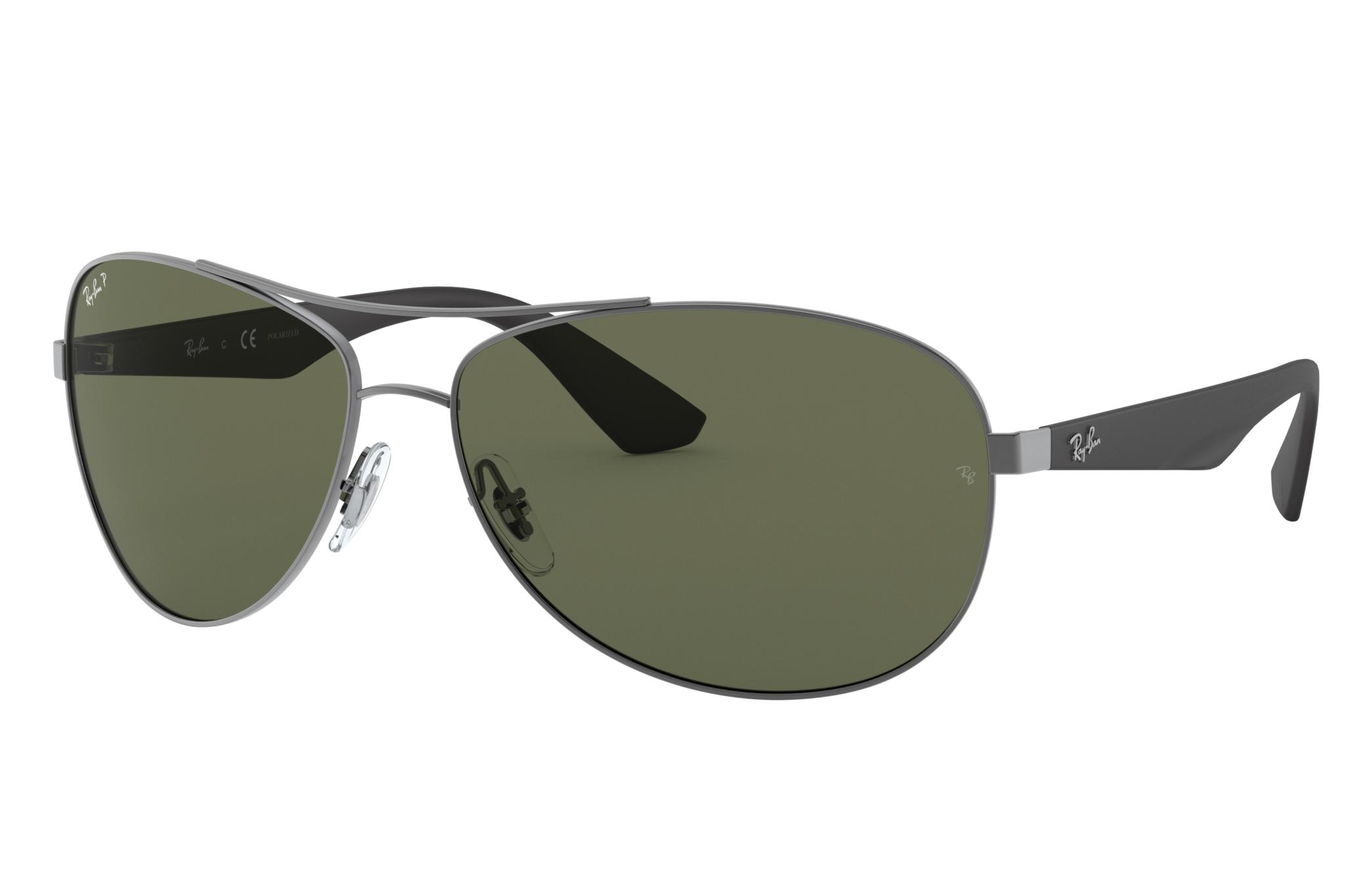 Ray-Ban Rb3526 Black, Polarized Green Lenses - RB3526
