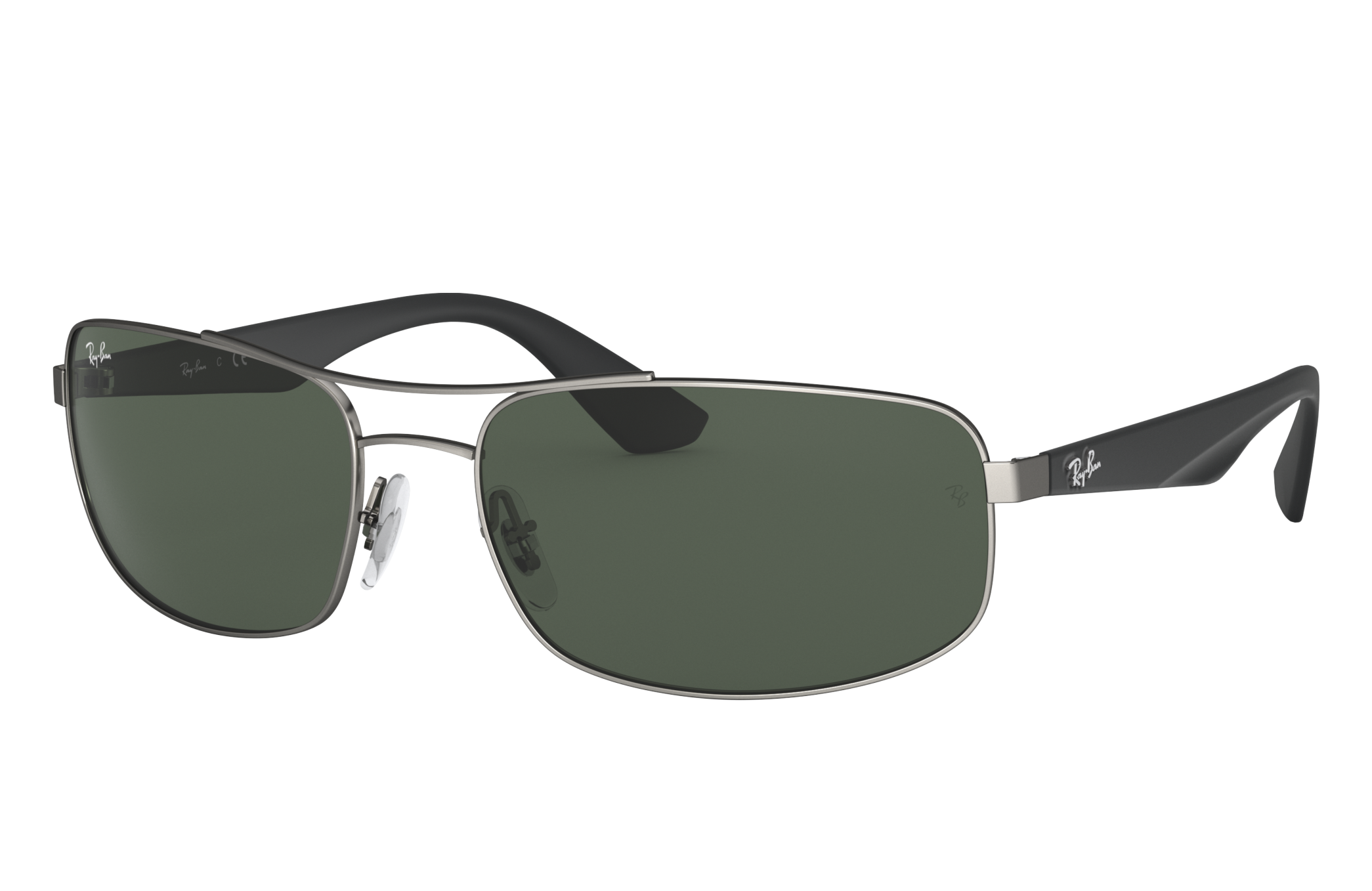 Ray-Ban Rb3527 Black, Green Lenses - RB3527