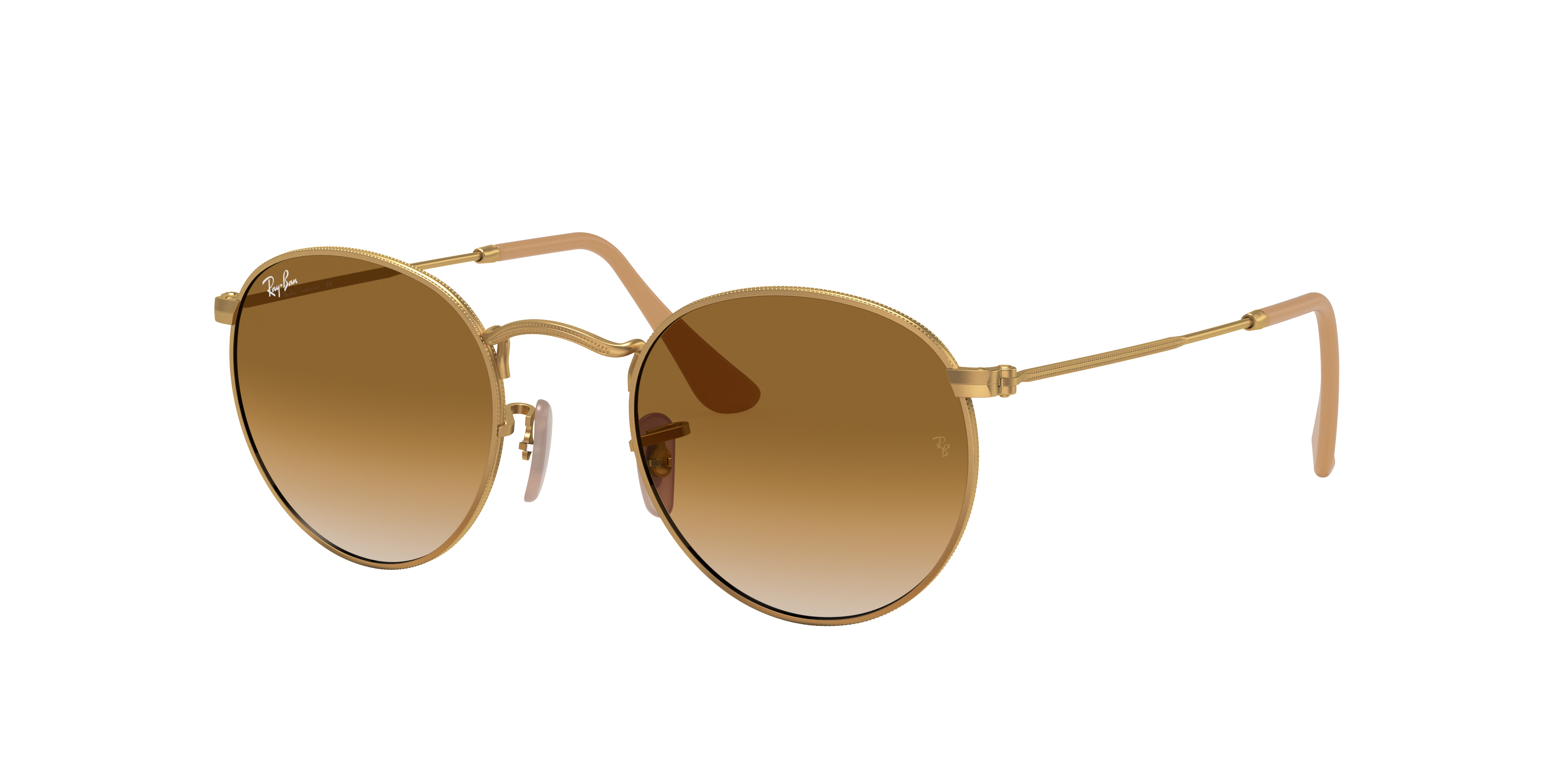 Ray-Ban Round Metal Gold, Brown Lenses - RB3447
