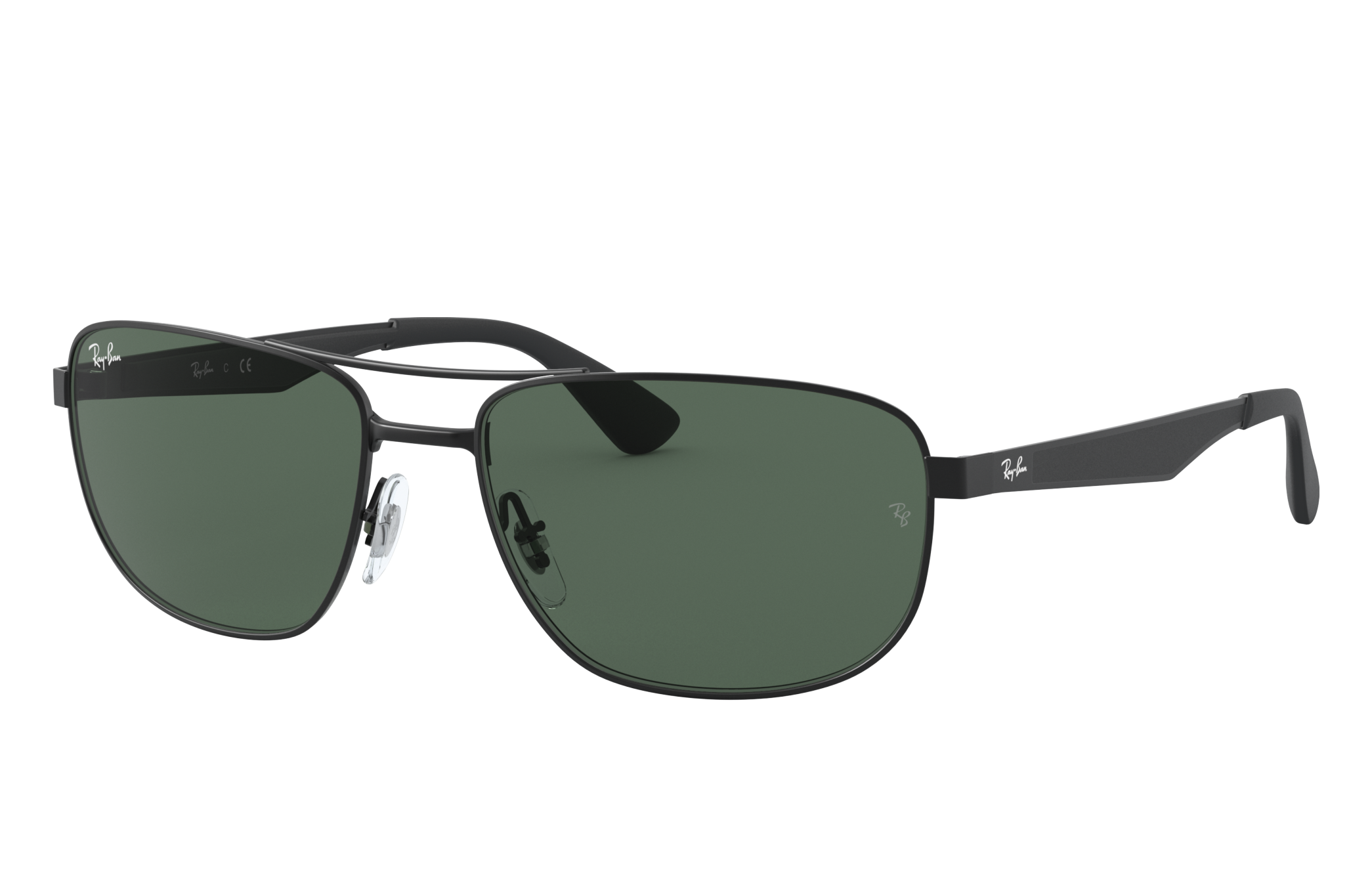 Ray-Ban Rb3528 Black, Green Lenses - RB3528