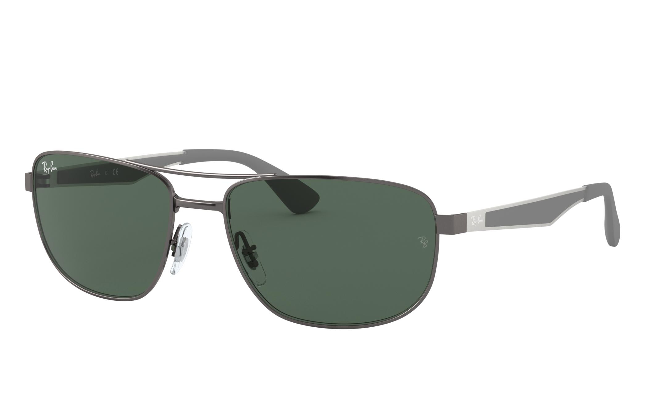 Ray-Ban Rb3528 Gunmetal, Green Lenses - RB3528