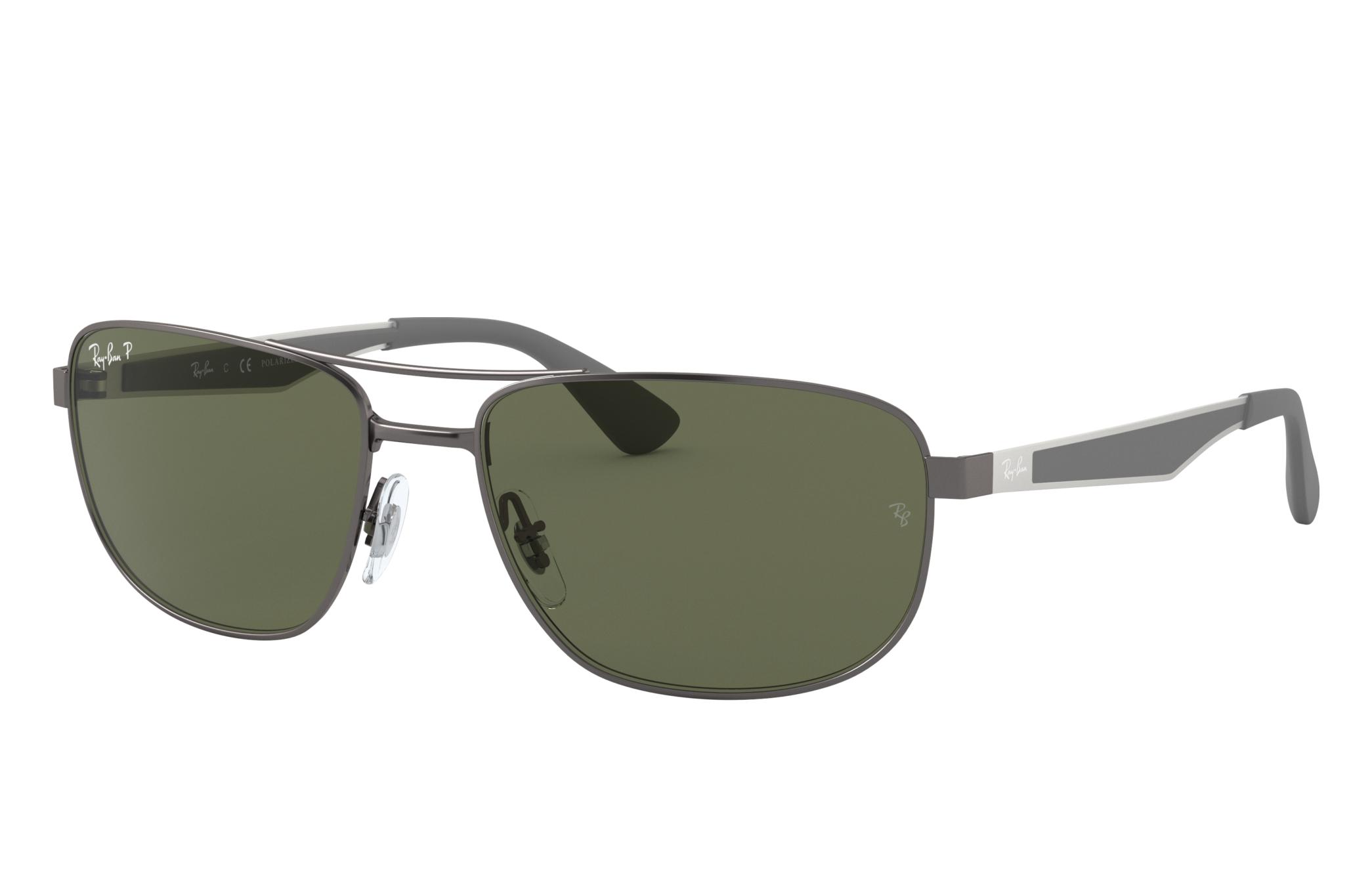 Ray-Ban Rb3528 Gunmetal, Polarized Green Lenses - RB3528