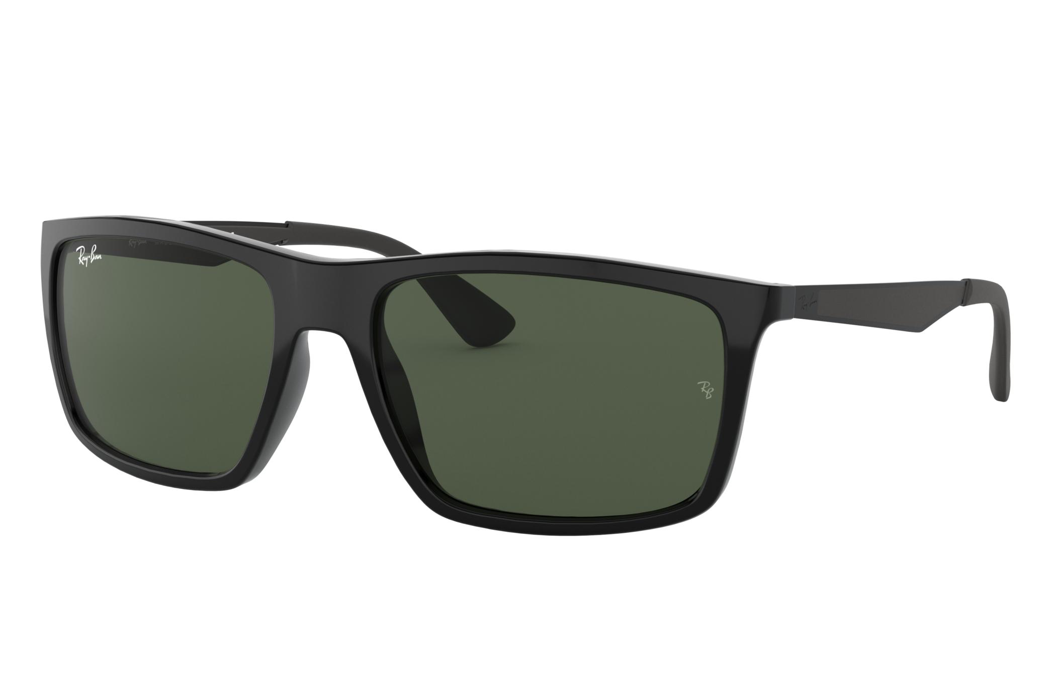 Ray-Ban Rb4228 Black, Green Lenses - RB4228