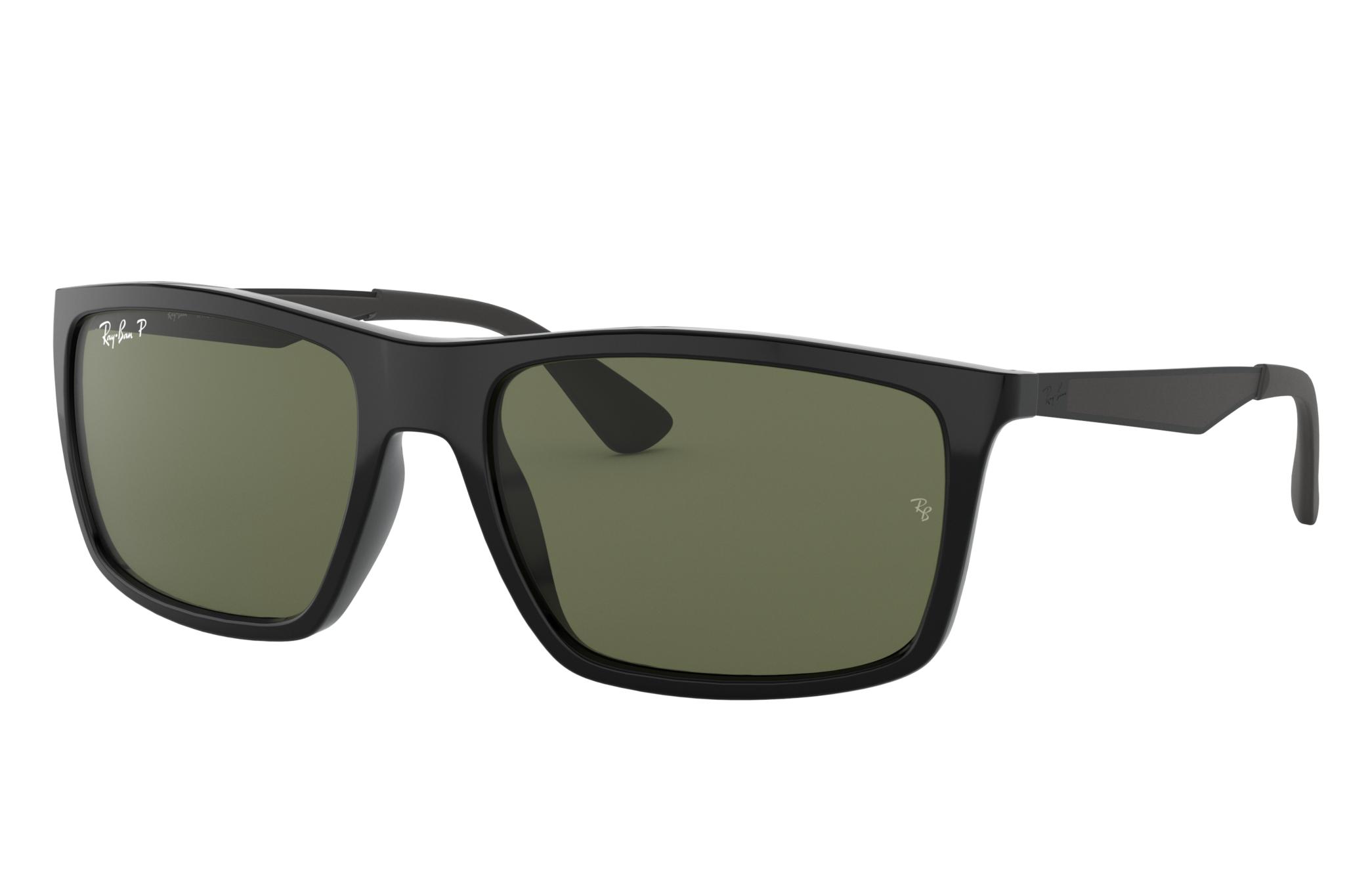 Ray-Ban Rb4228 Black, Polarized Green Lenses - RB4228