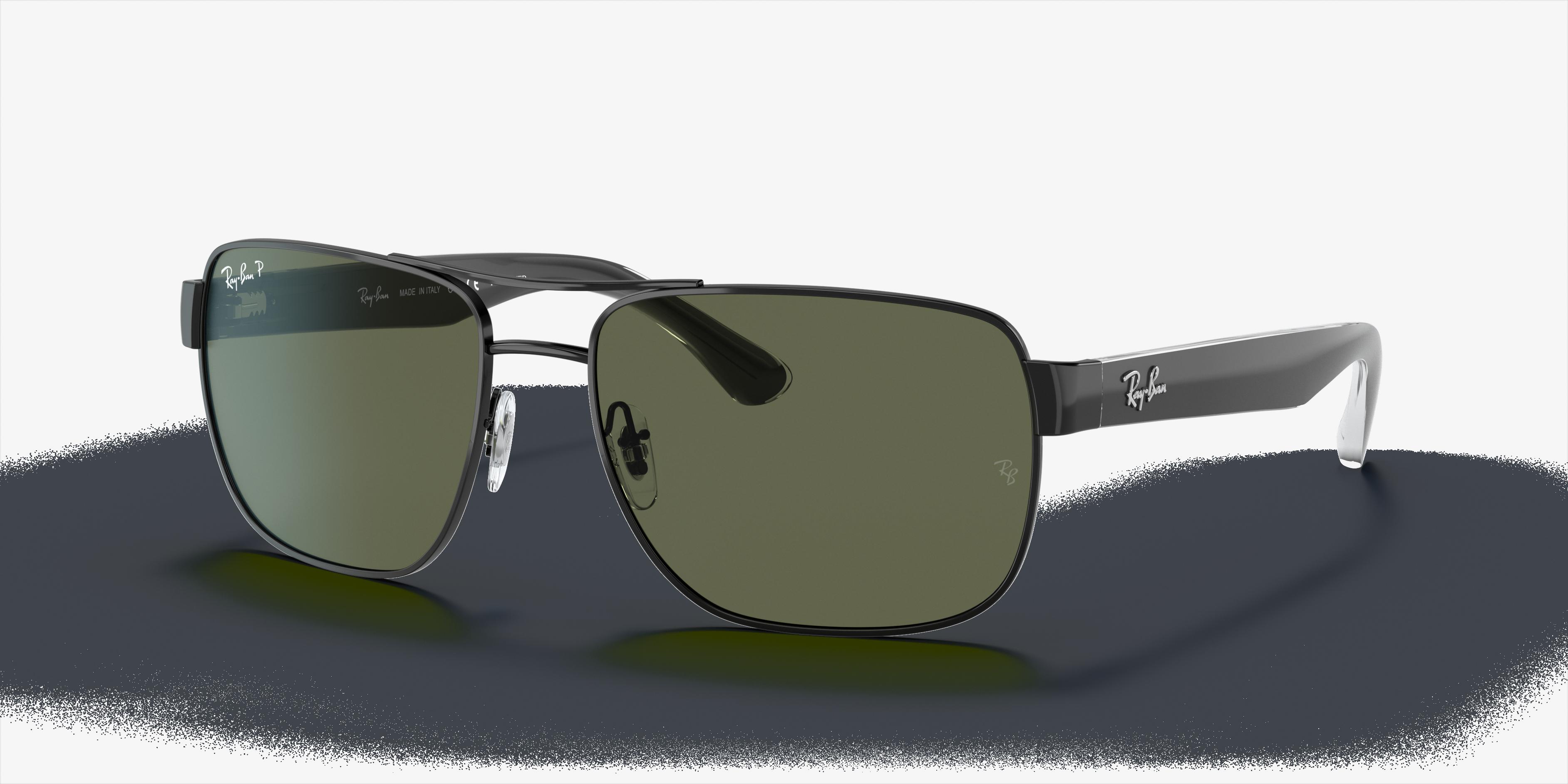 Ray-Ban Rb3530 Black, Polarized Green Lenses - RB3530
