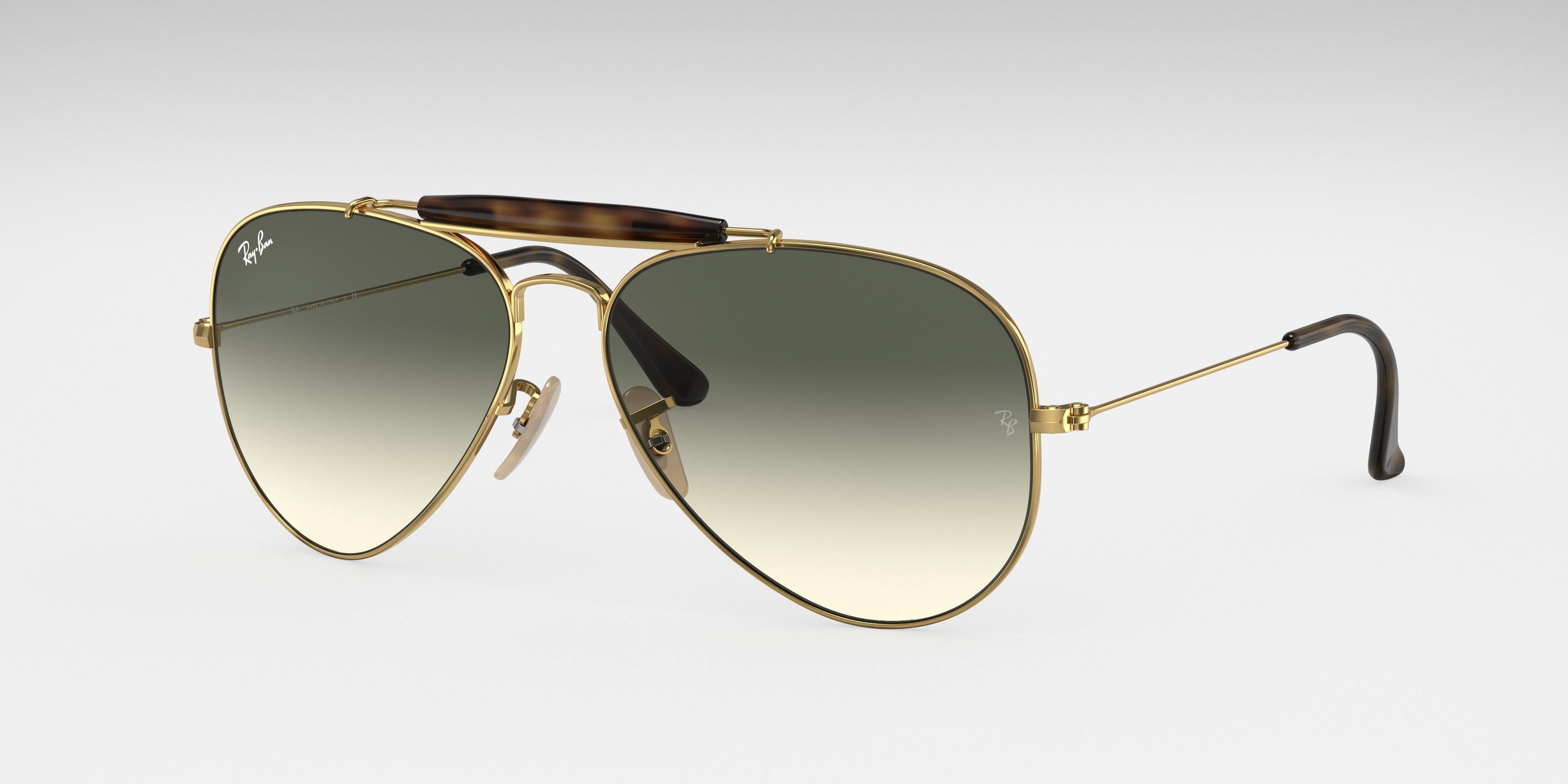 Ray-Ban Outdoorsman Havana Collection Gold, Gray Lenses - RB3029
