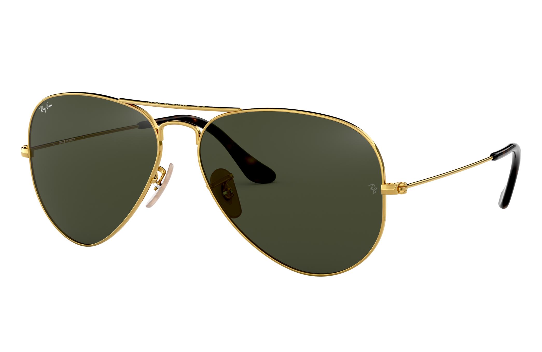 Ray-Ban Aviator Havana Collection Gold, Green Lenses - RB3025