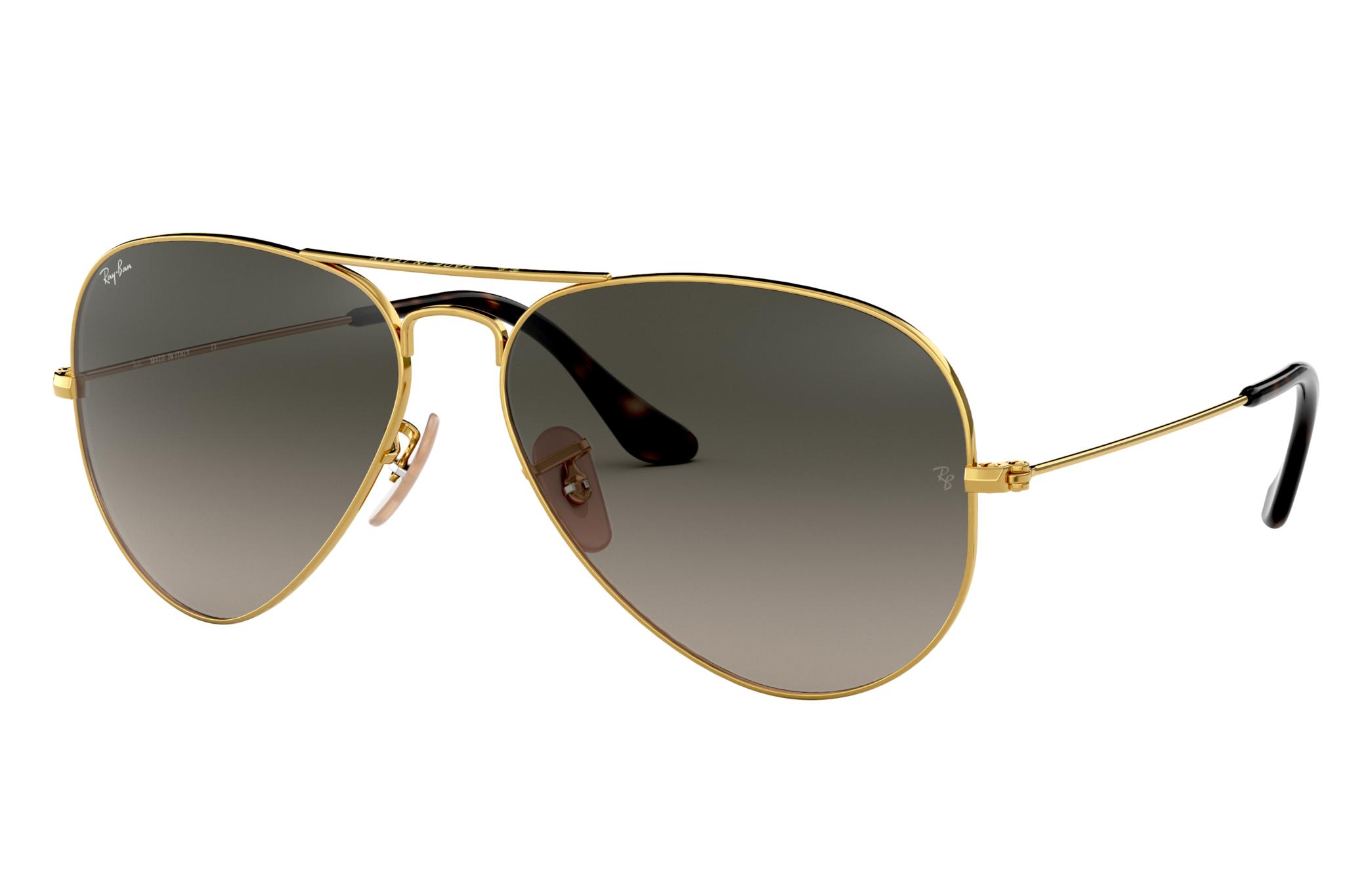 Ray-Ban Aviator Havana Collection Gold, Gray Lenses - RB3025