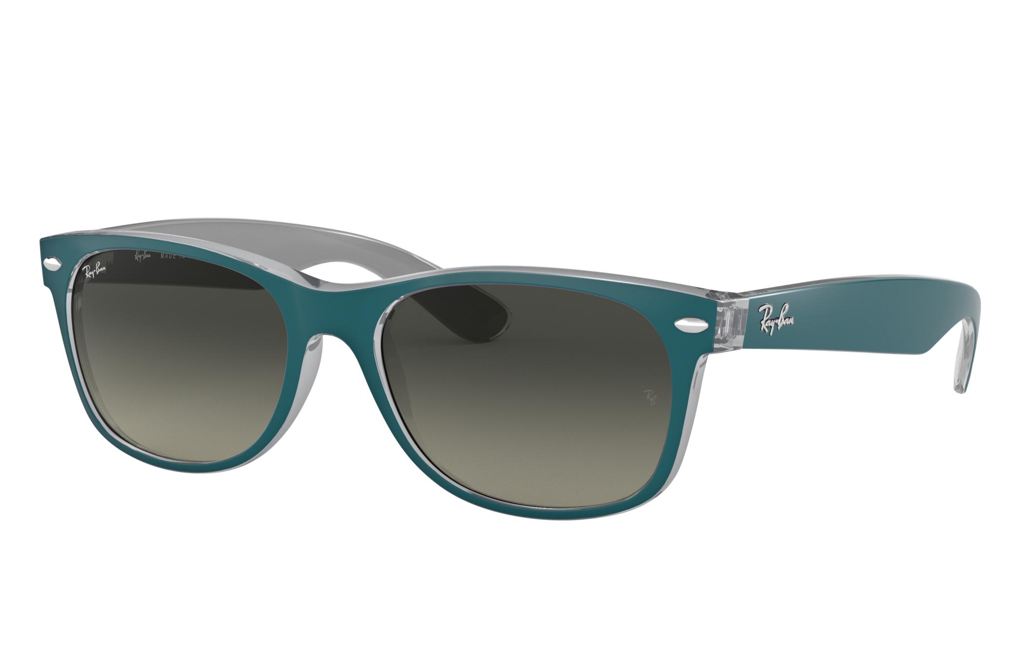 Ray-Ban New Wayfarer Bicolor Blue, Gray Lenses - RB2132