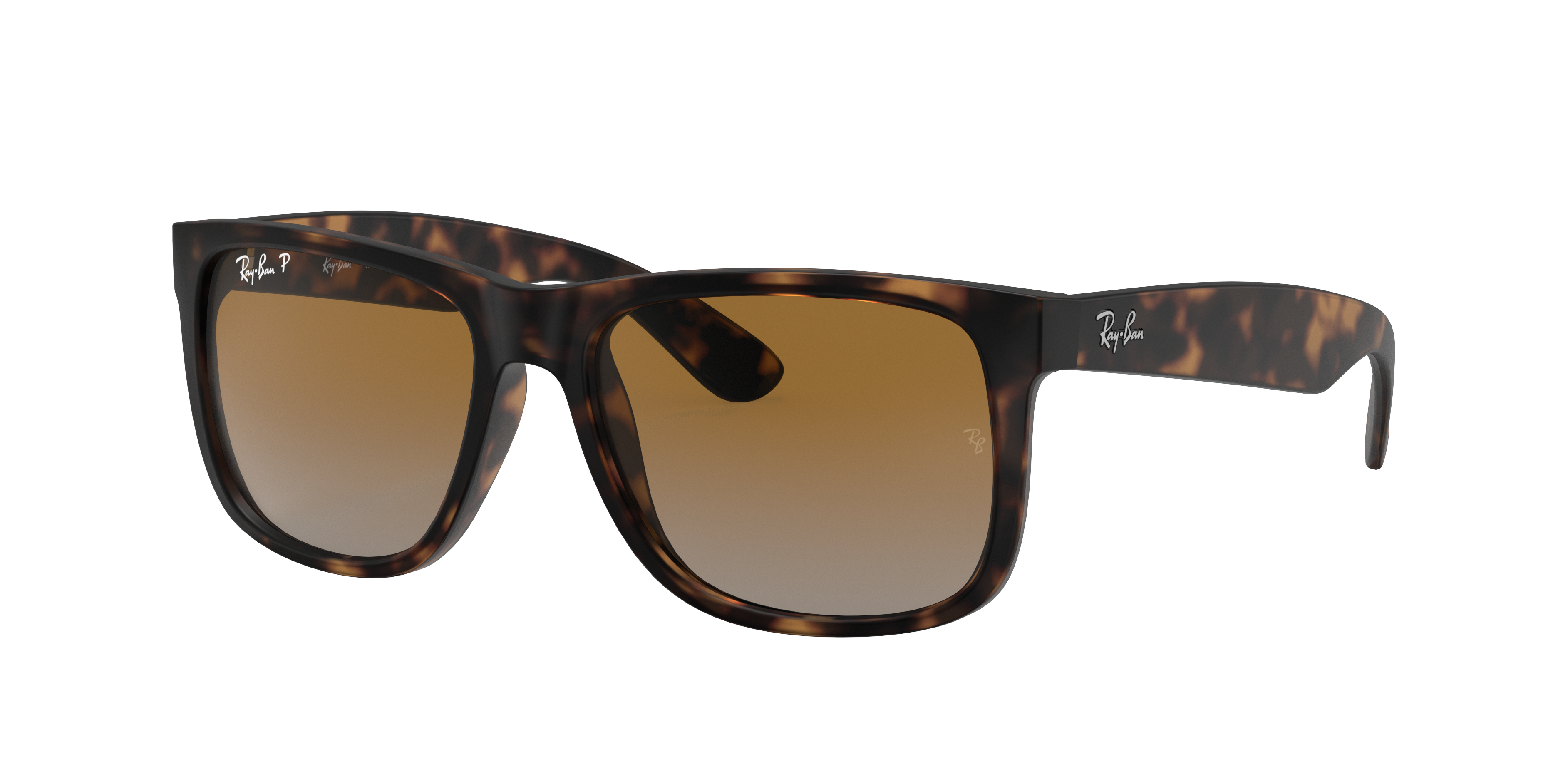Ray-Ban Justin Classic Tortoise, Polarized Brown Lenses - RB4165