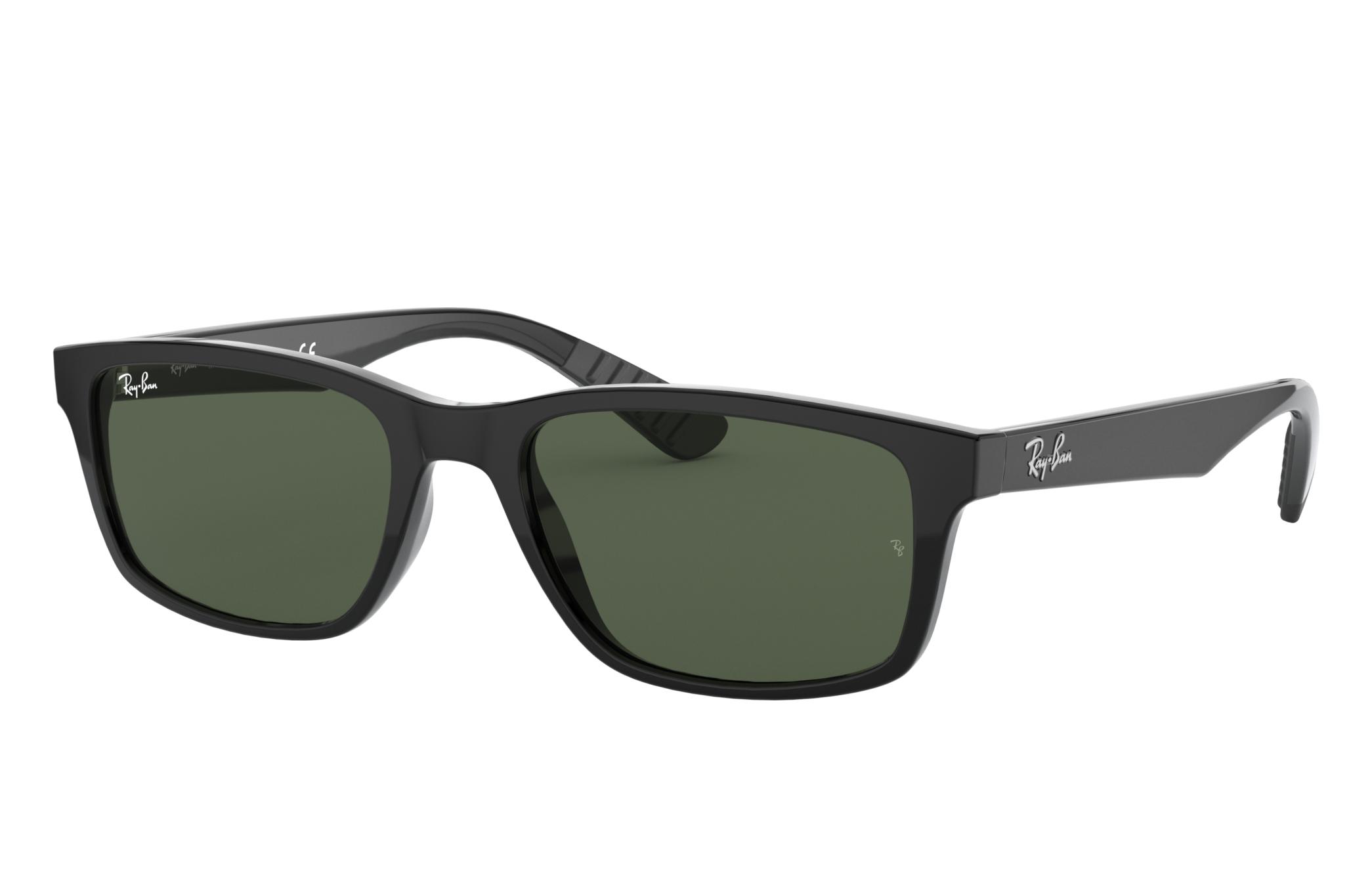Ray-Ban Rb4234 Black, Green Lenses - RB4234