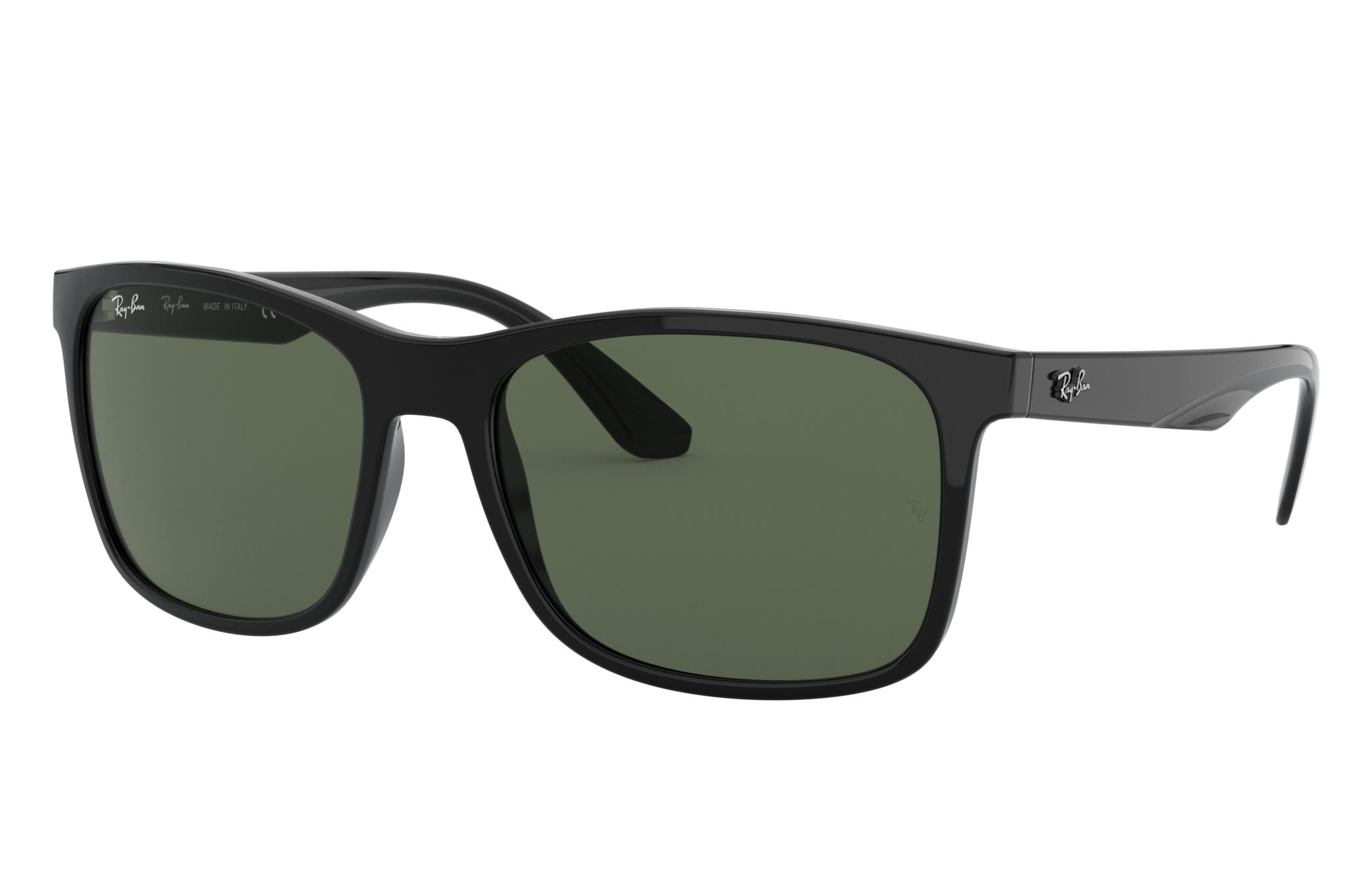 Ray-Ban Rb4232 Black, Green Lenses - RB4232