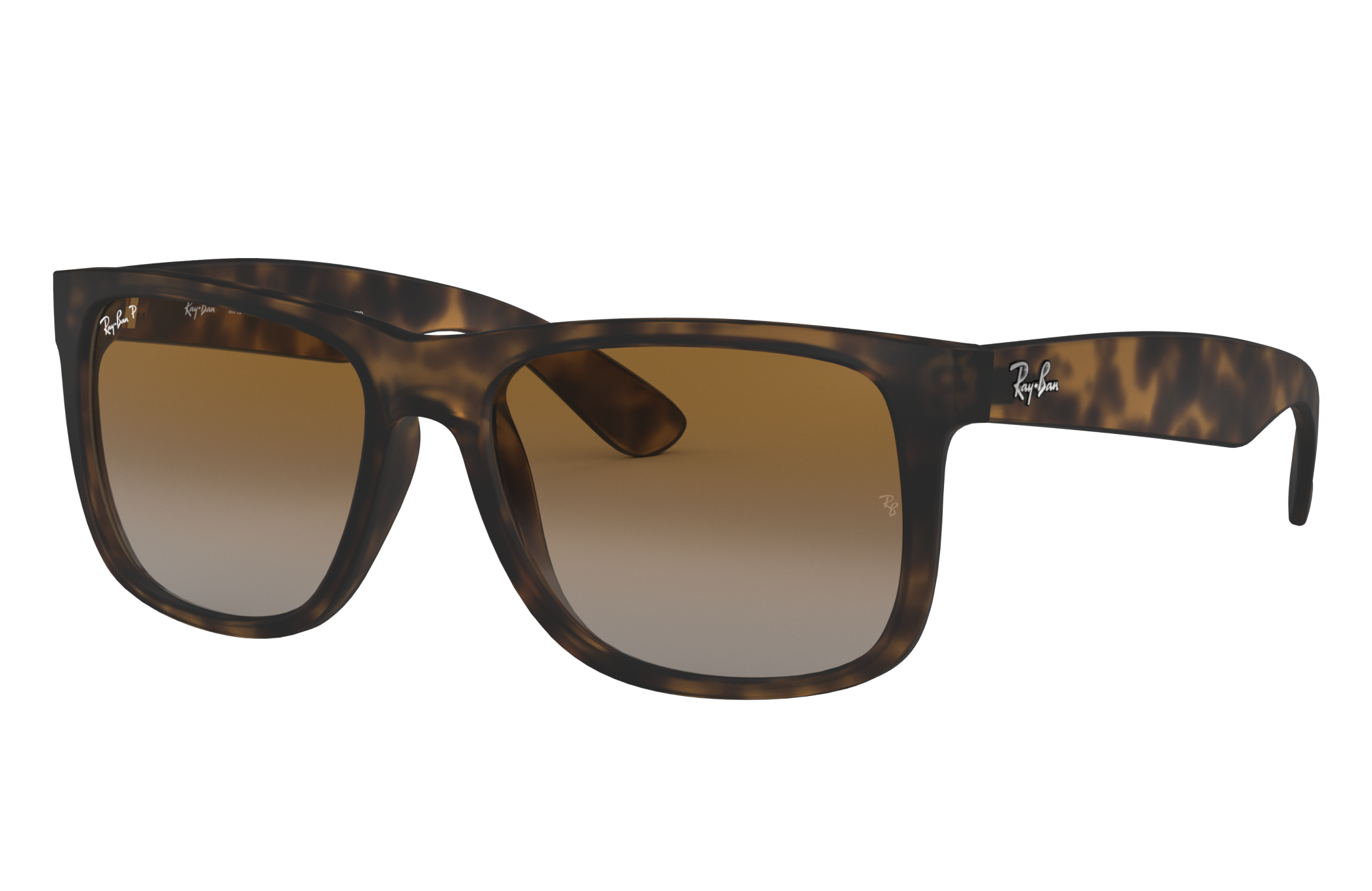 Ray-Ban Justin Classic Low Bridge Fit Tortoise, Polarized Brown Lenses - RB4165F