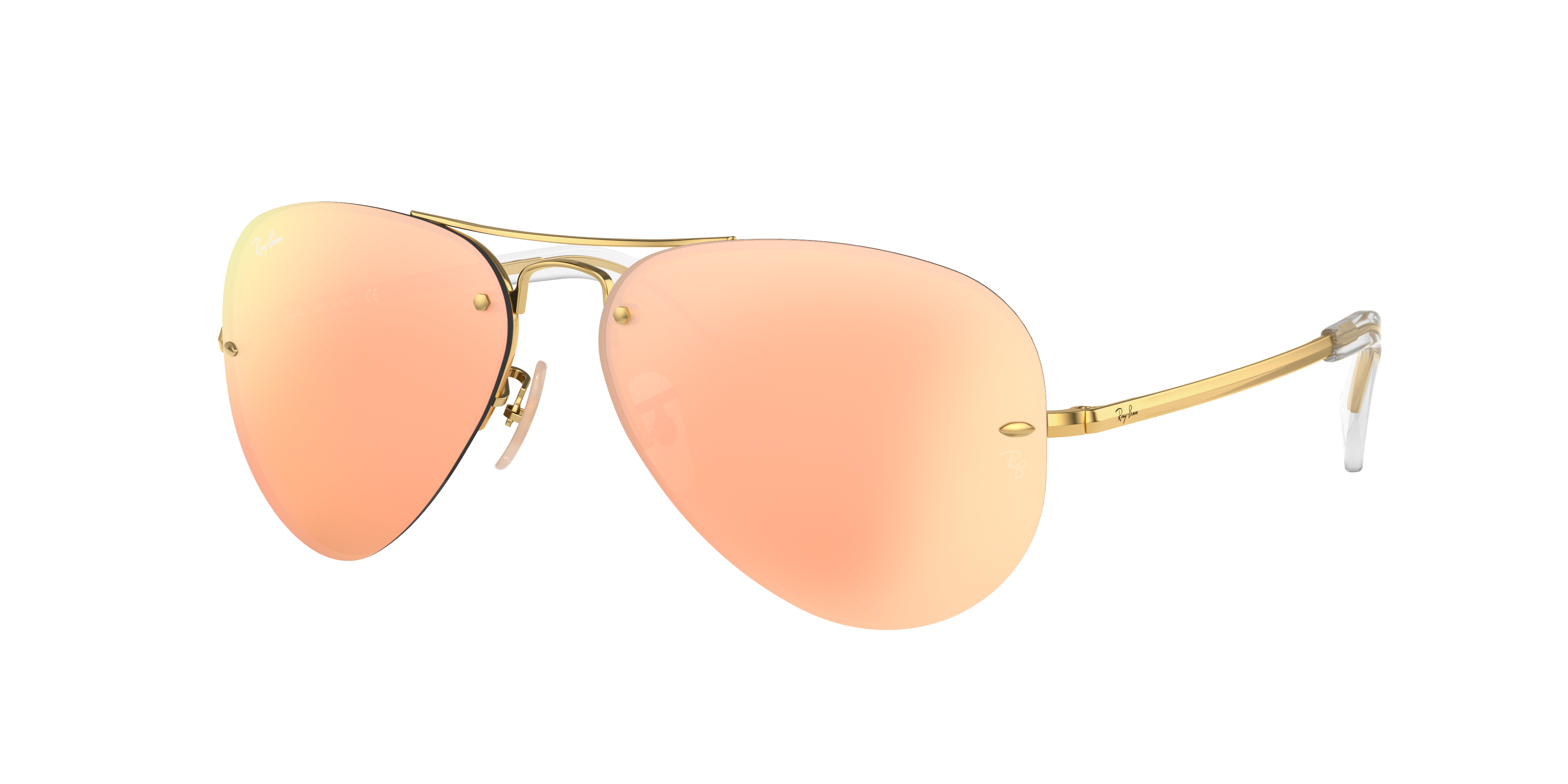 Ray-Ban Rb3449 Gold, Pink Lenses - RB3449
