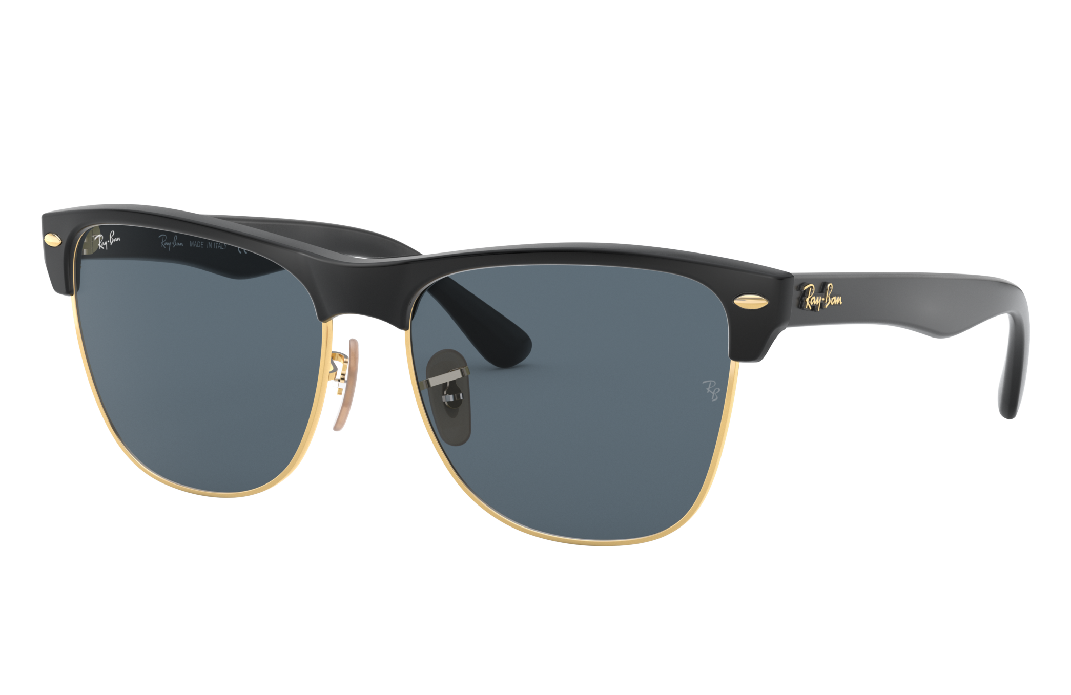 Ray-Ban Clubmaster Oversized @collection Black, Blue Lenses - RB4175