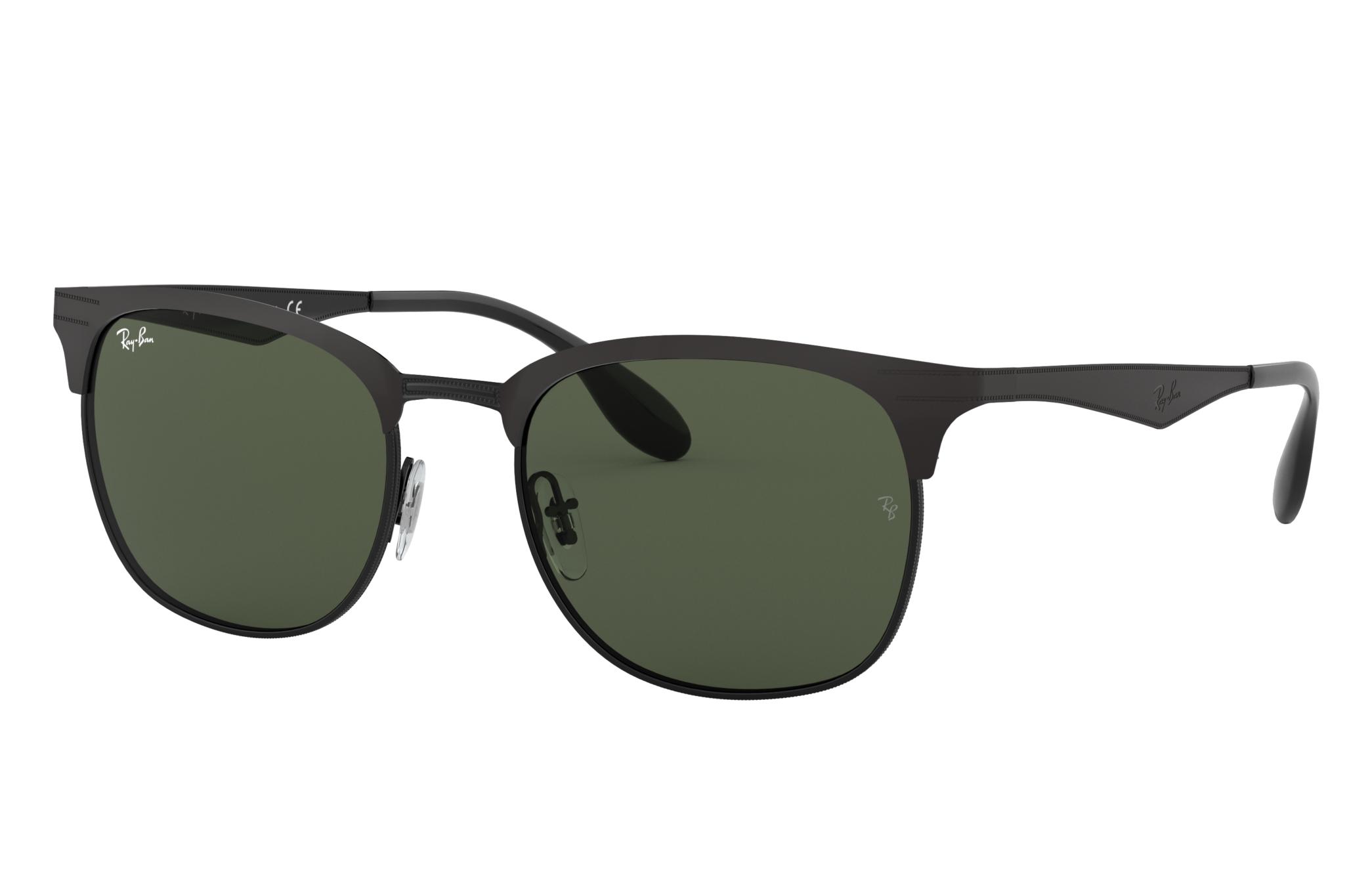 Ray-Ban Rb3538 Black, Green Lenses - RB3538