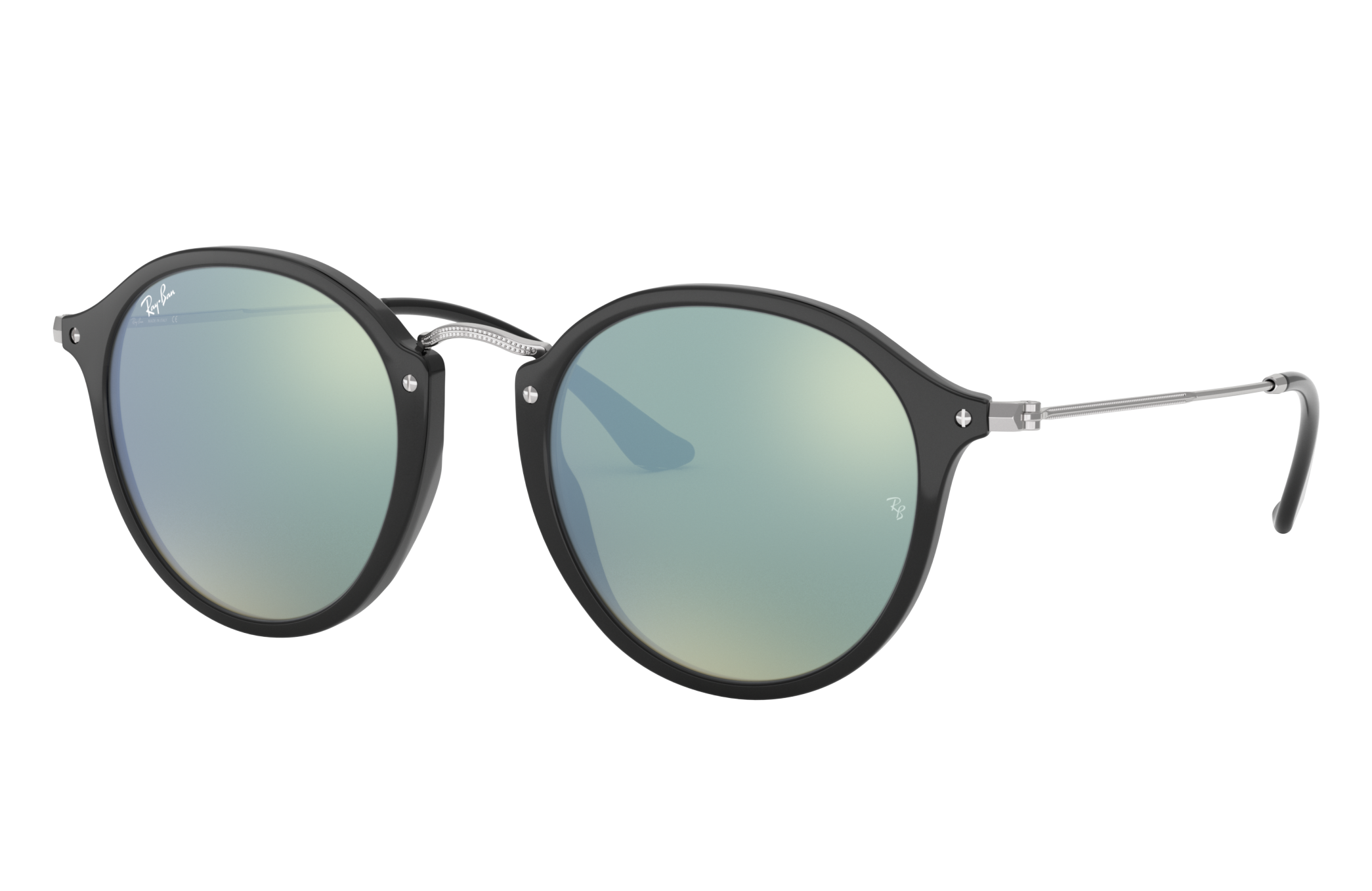 Ray-Ban Round Fleck @collection Silver, Gray Lenses - RB2447