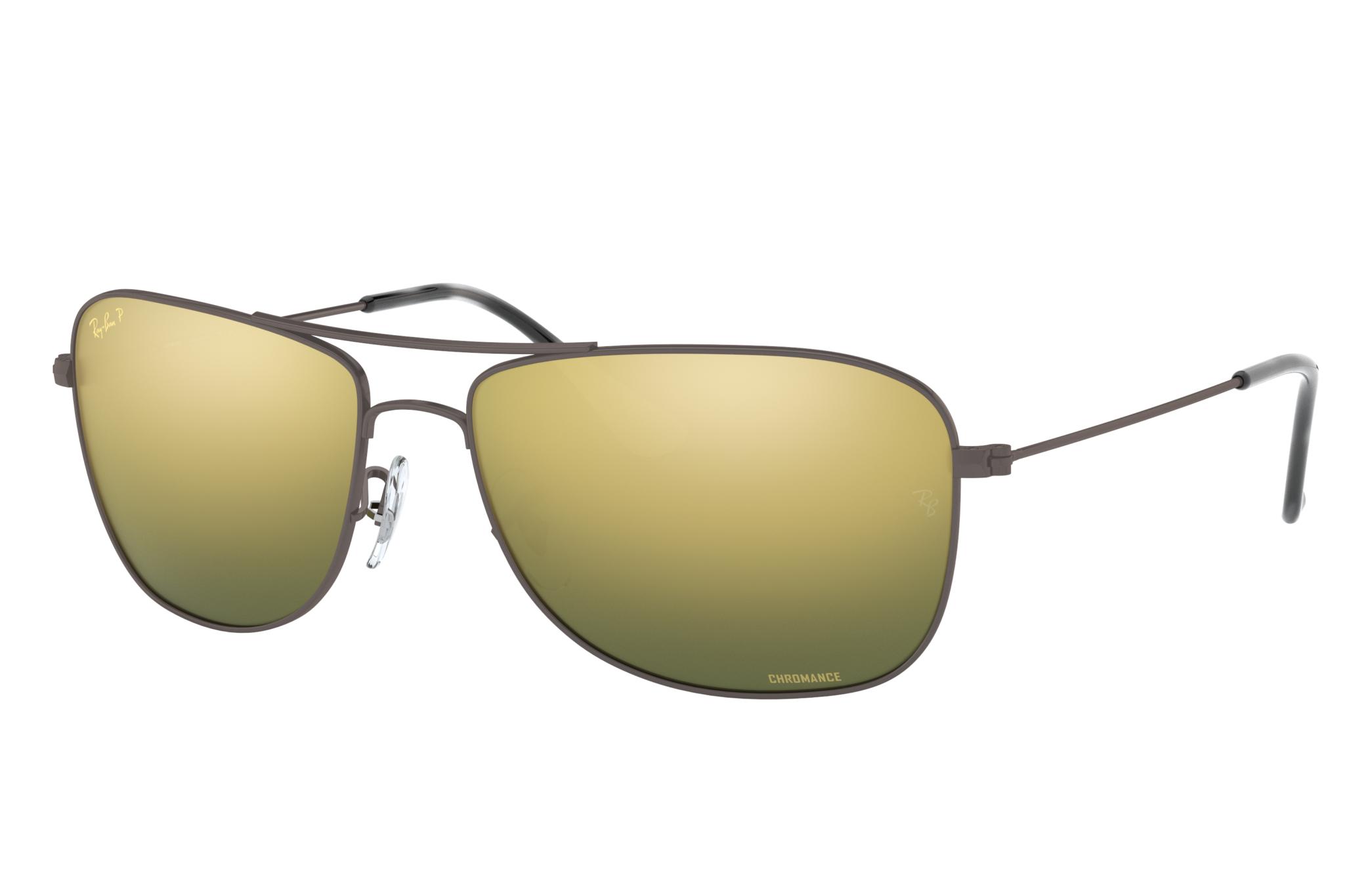 Ray-Ban Rb3543 Chromance Gunmetal, Polarized Green Lenses - RB3543