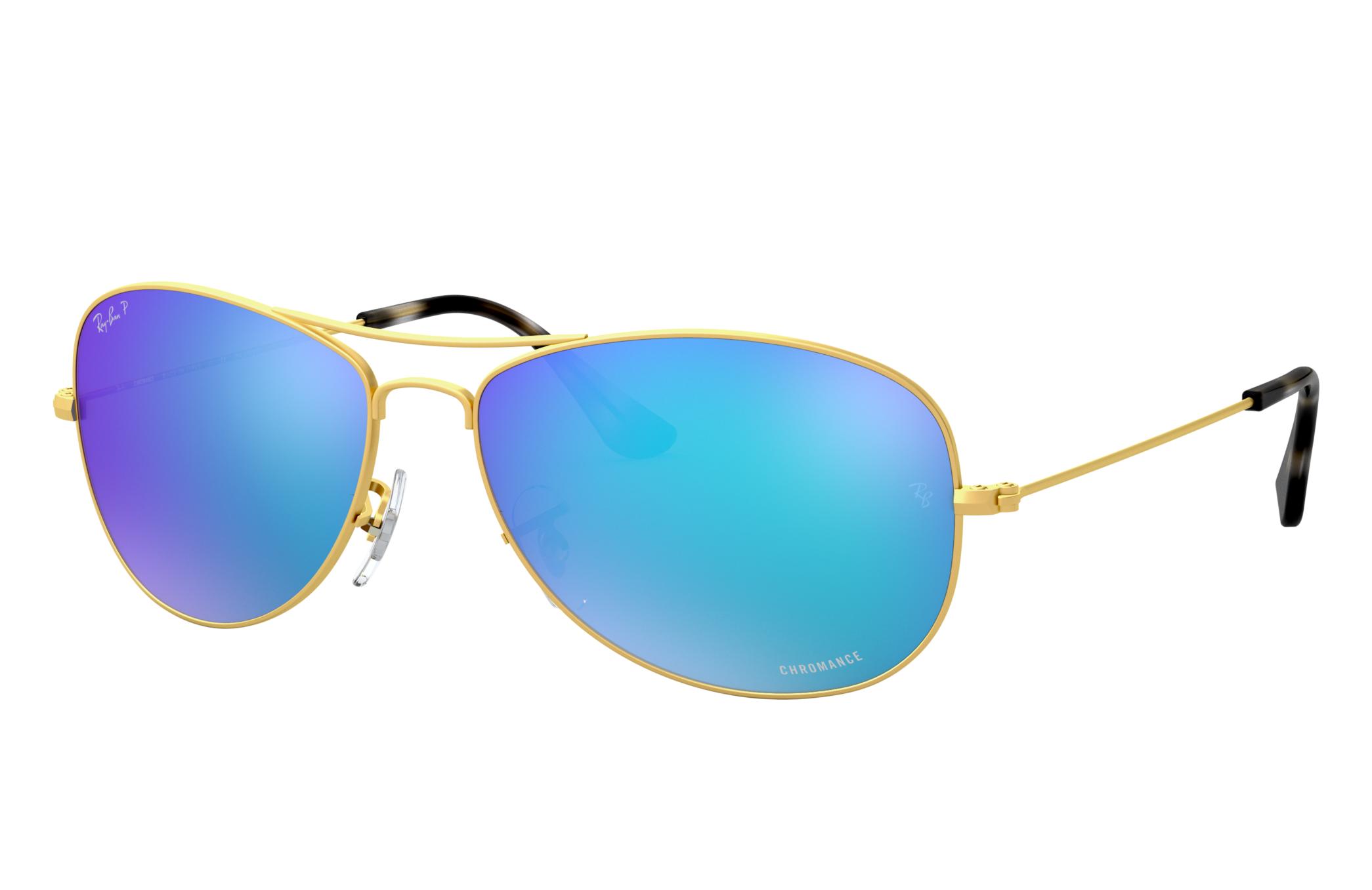 Ray-Ban Rb3562 Chromance Gold, Polarized Blue Lenses - RB3562
