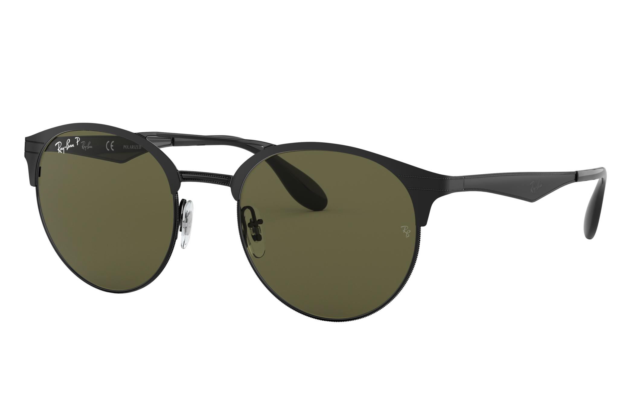 Ray-Ban Rb3545 Black, Polarized Green Lenses - RB3545