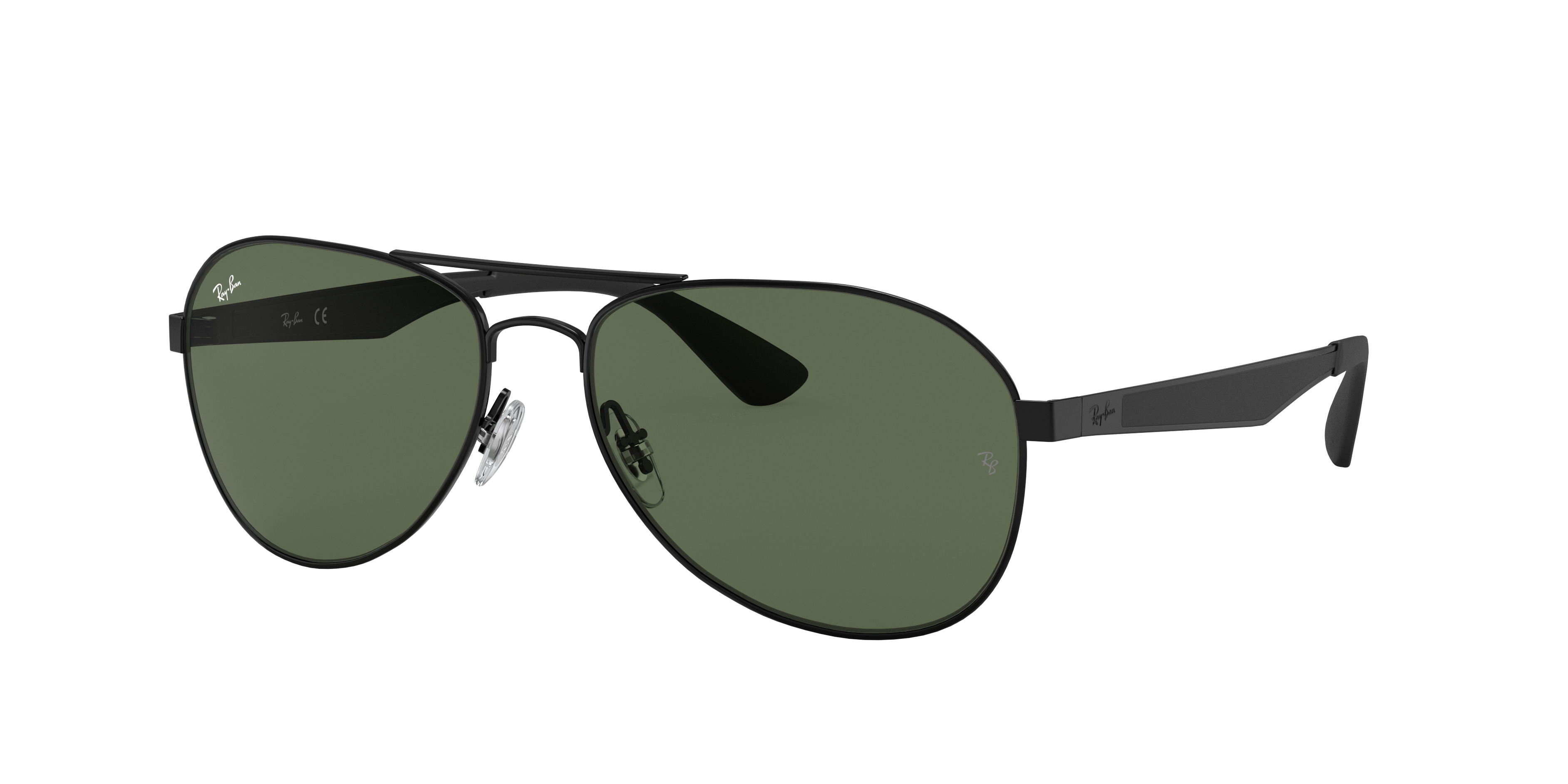Ray-Ban Rb3549 Black, Green Lenses - RB3549