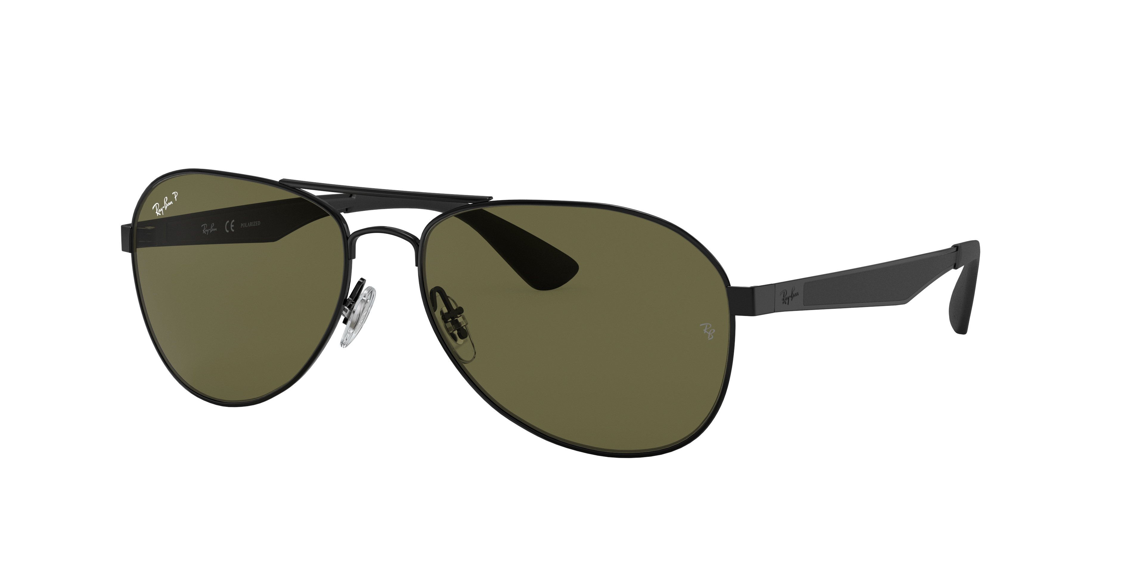 Ray-Ban Rb3549 Black, Polarized Green Lenses - RB3549