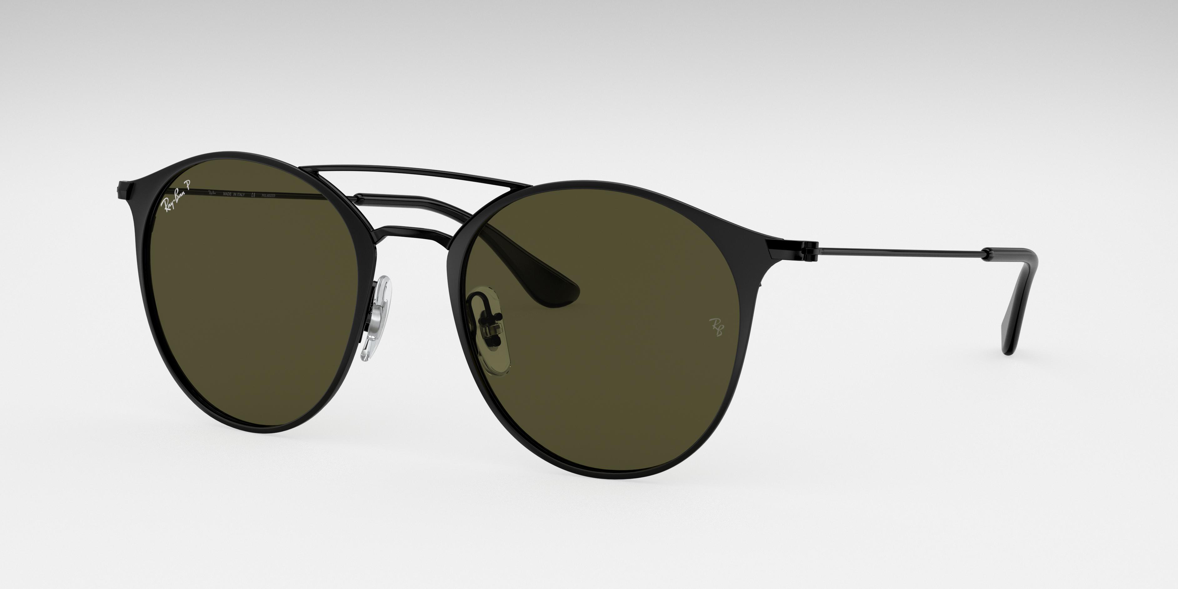Ray-Ban Rb3546 Black, Polarized Green Lenses - RB3546