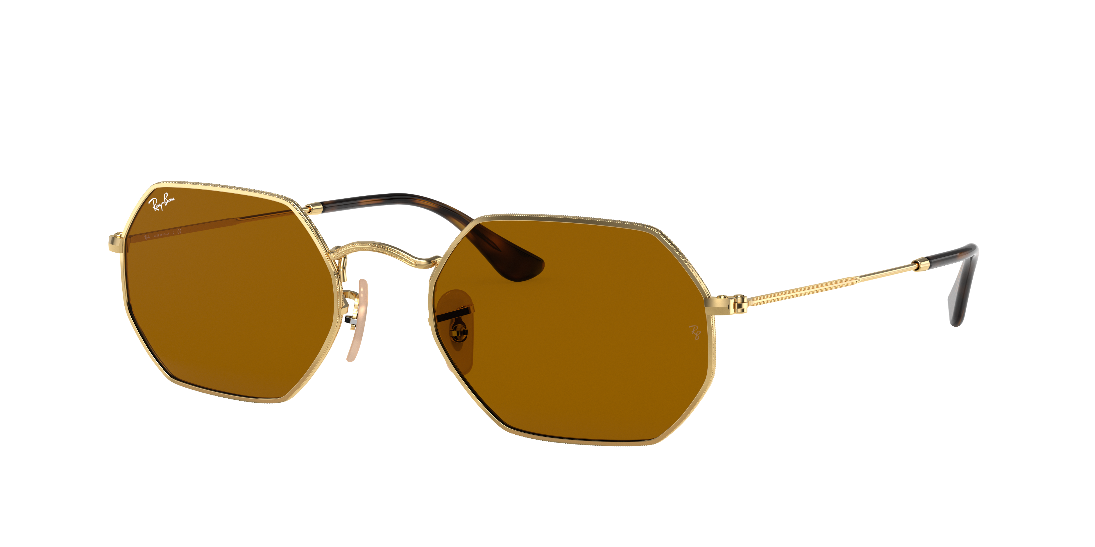 Ray-Ban Octagonal Classic Gold, Brown Lenses - RB3556N