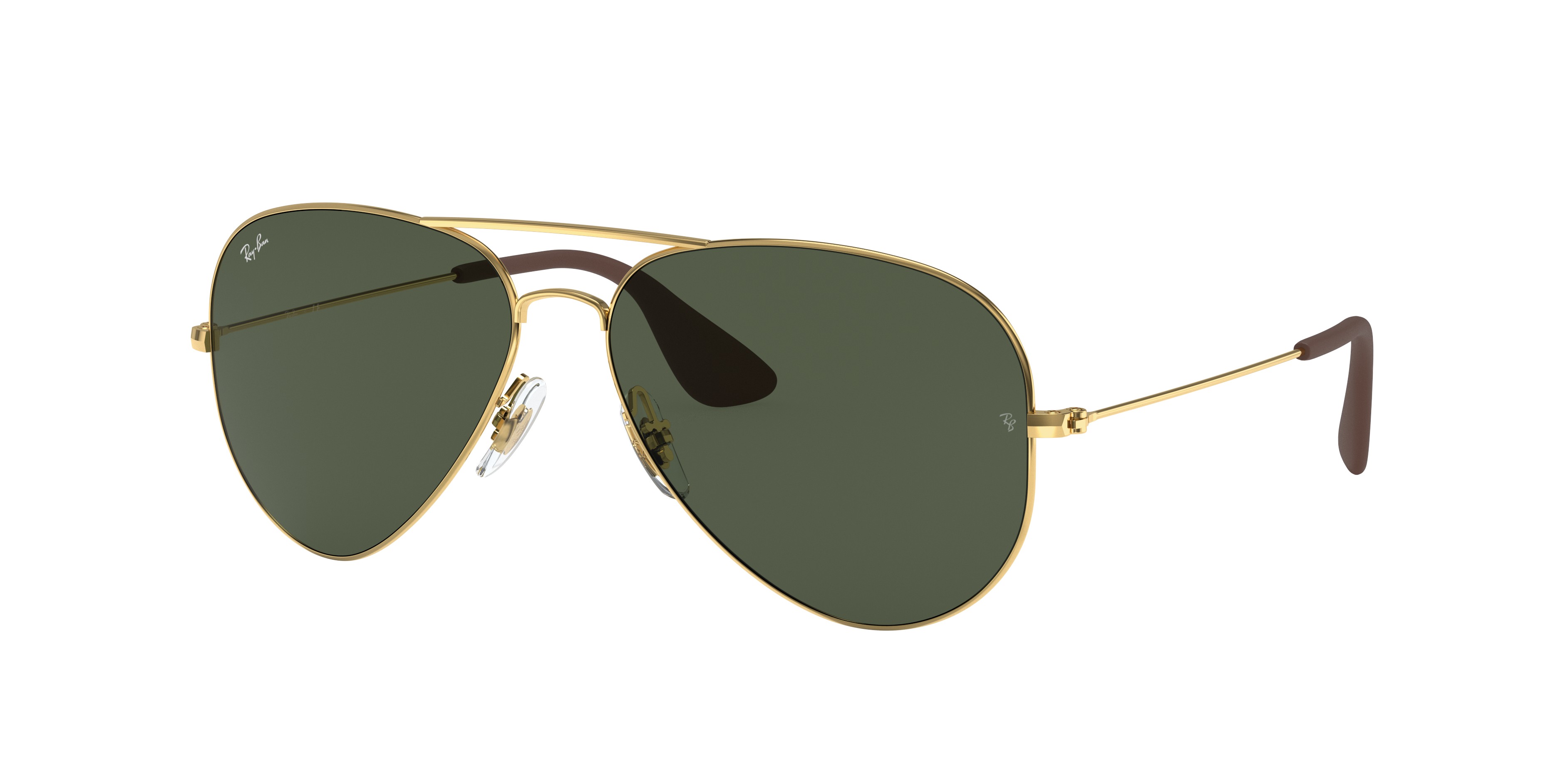 Ray-Ban Rb3558 Gold, Green Lenses - RB3558