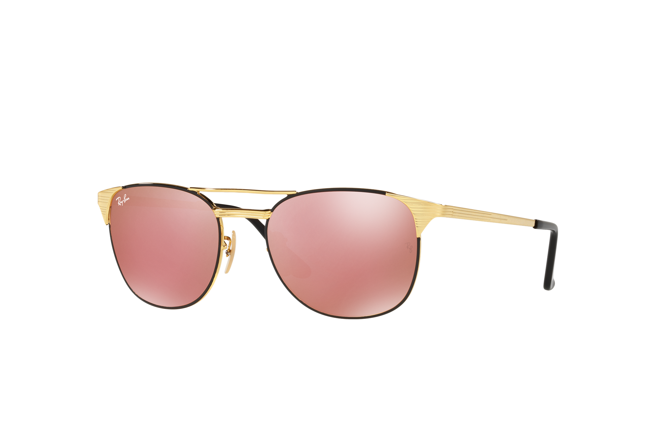 Ray-Ban Signet Gold, Pink Lenses - RB3429M