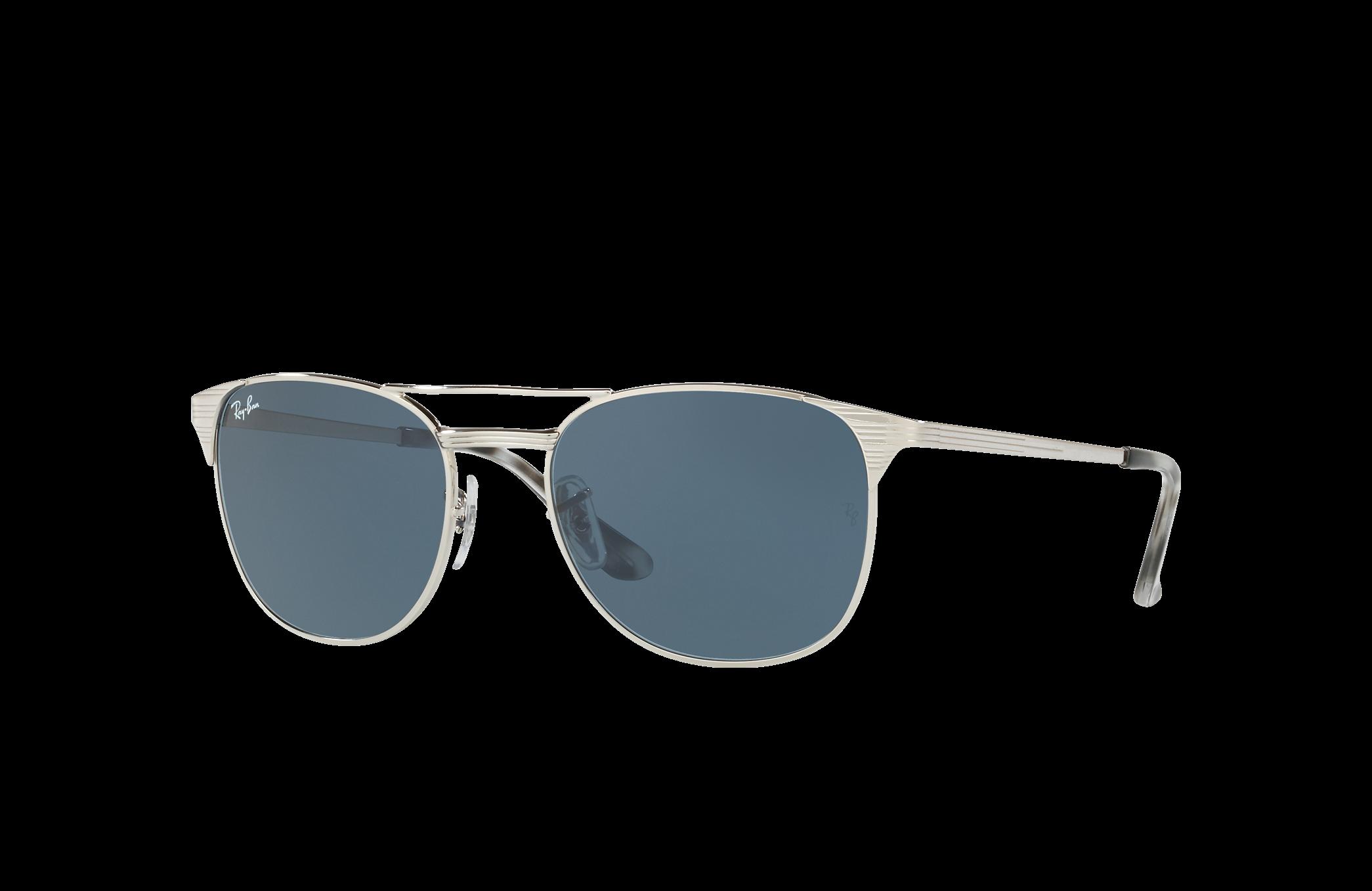 Ray-Ban Signet Silver, Blue Lenses - RB3429M