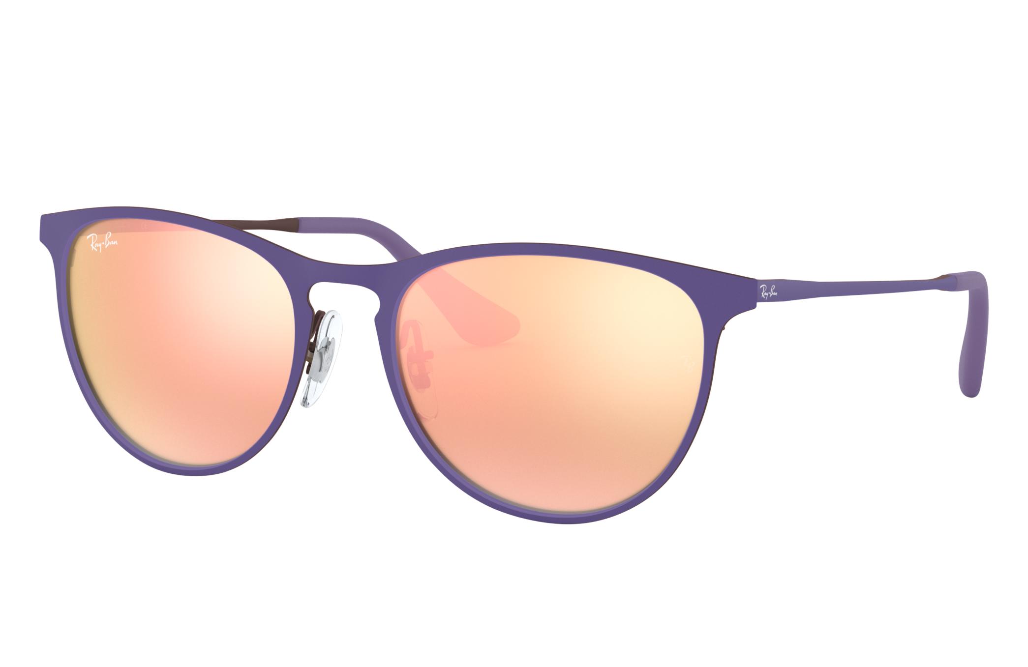 Ray-Ban Erika Metal Junior Violet, Pink Lenses - RJ9538S