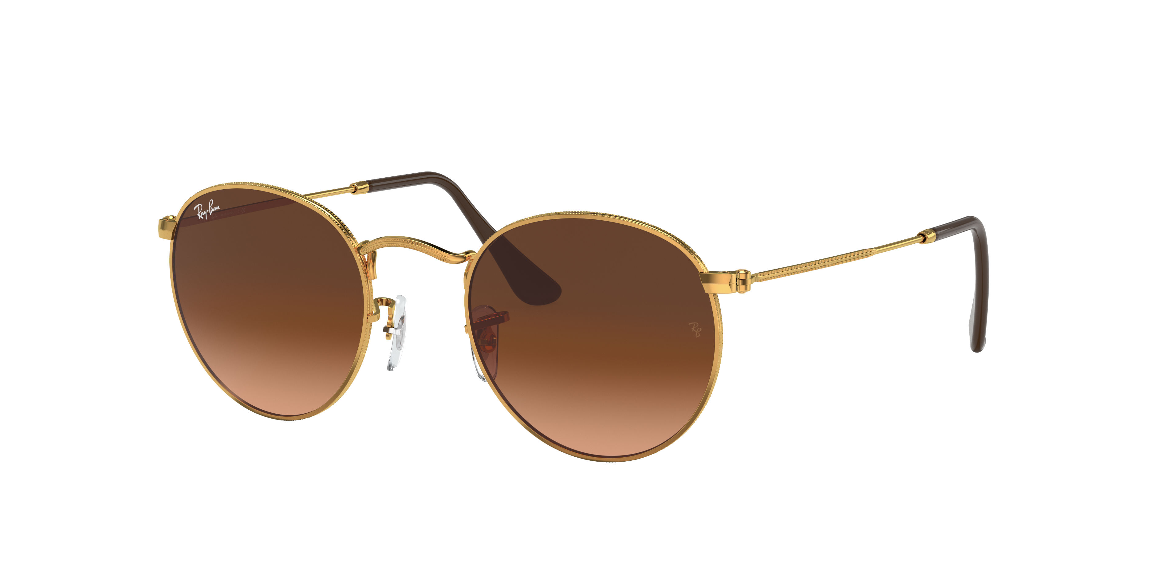 Ray-Ban Round Metal Bronze-Copper, Pink Lenses - RB3447