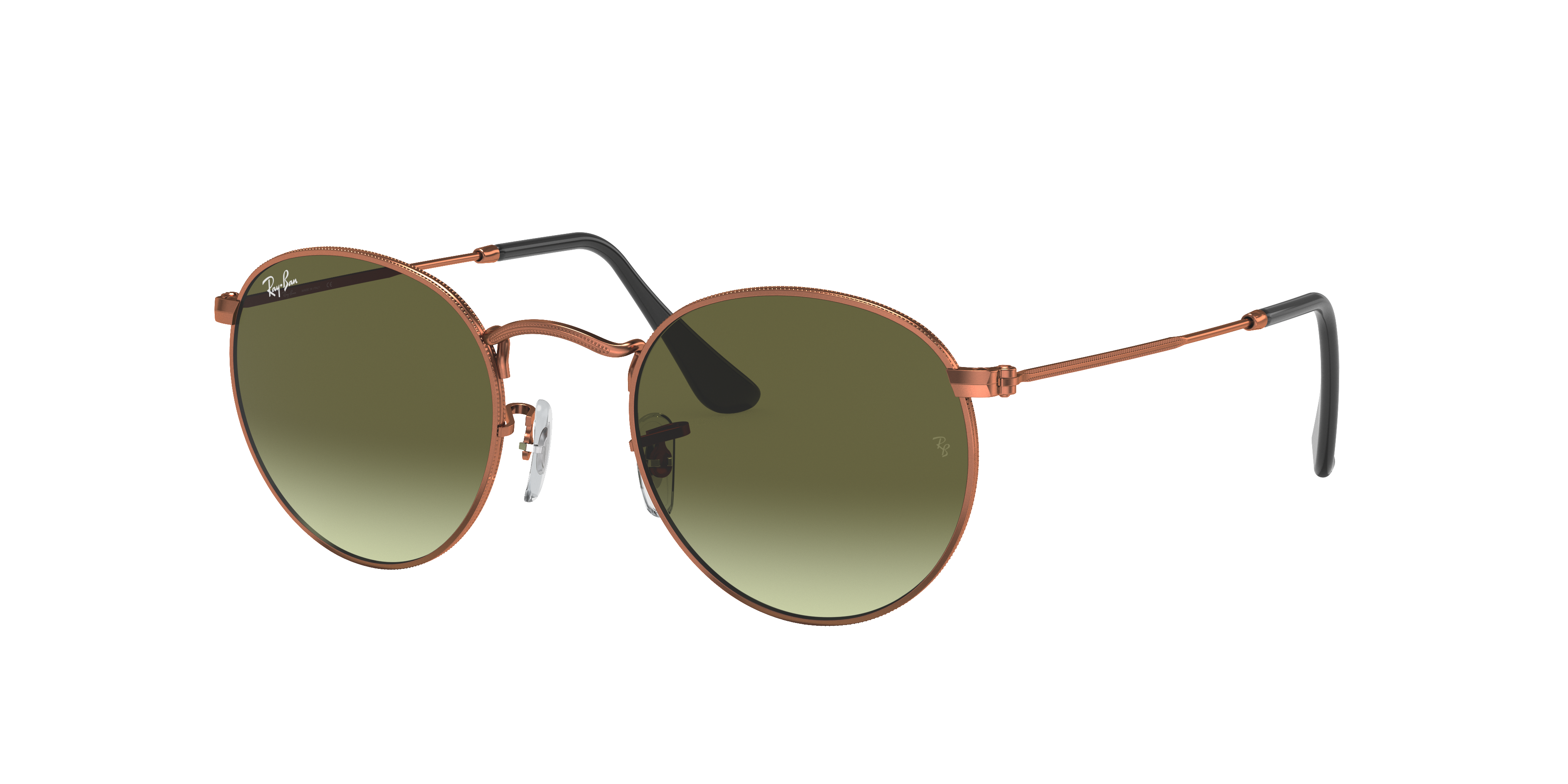 Ray-Ban Round Metal Bronze-Copper, Green Lenses - RB3447