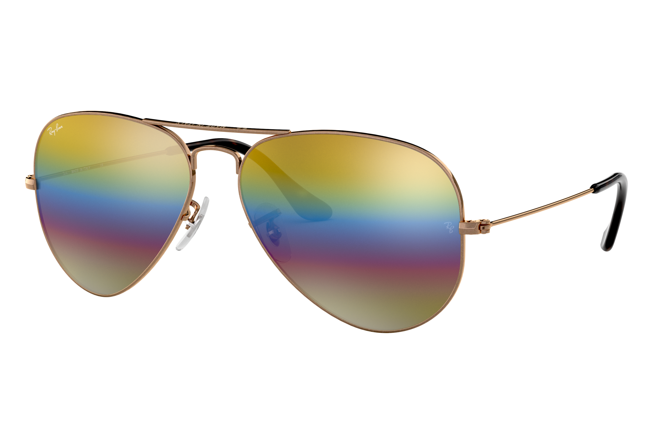 Ray-Ban Aviator Mineral Flash Lenses Bronze-Copper, Yellow Lenses - RB3025