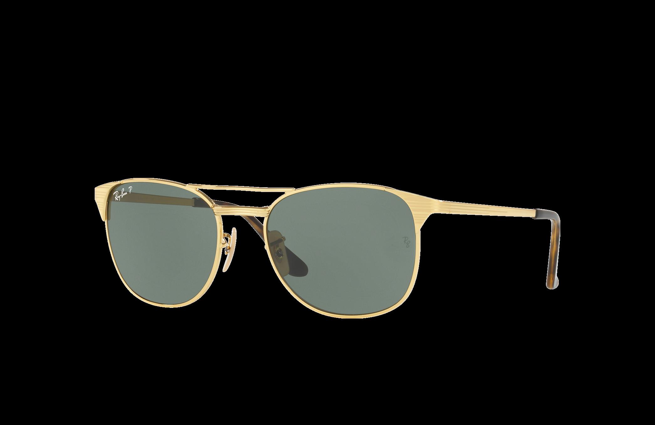 Ray-Ban Signet Gold, Polarized Green Lenses - RB3429M