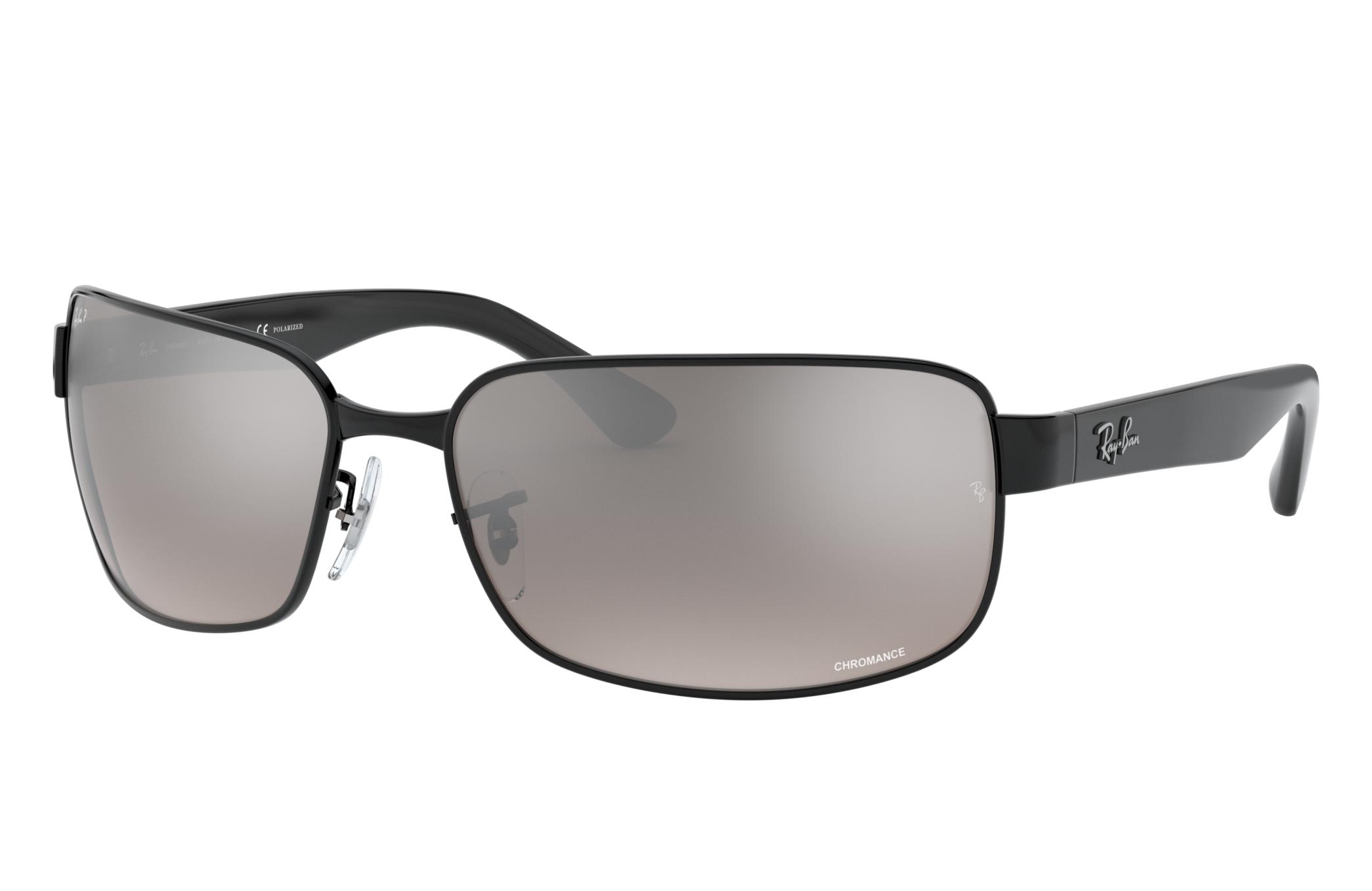 Ray-Ban Rb3566 Chromance Black, Polarized Gray Lenses - RB3566CH